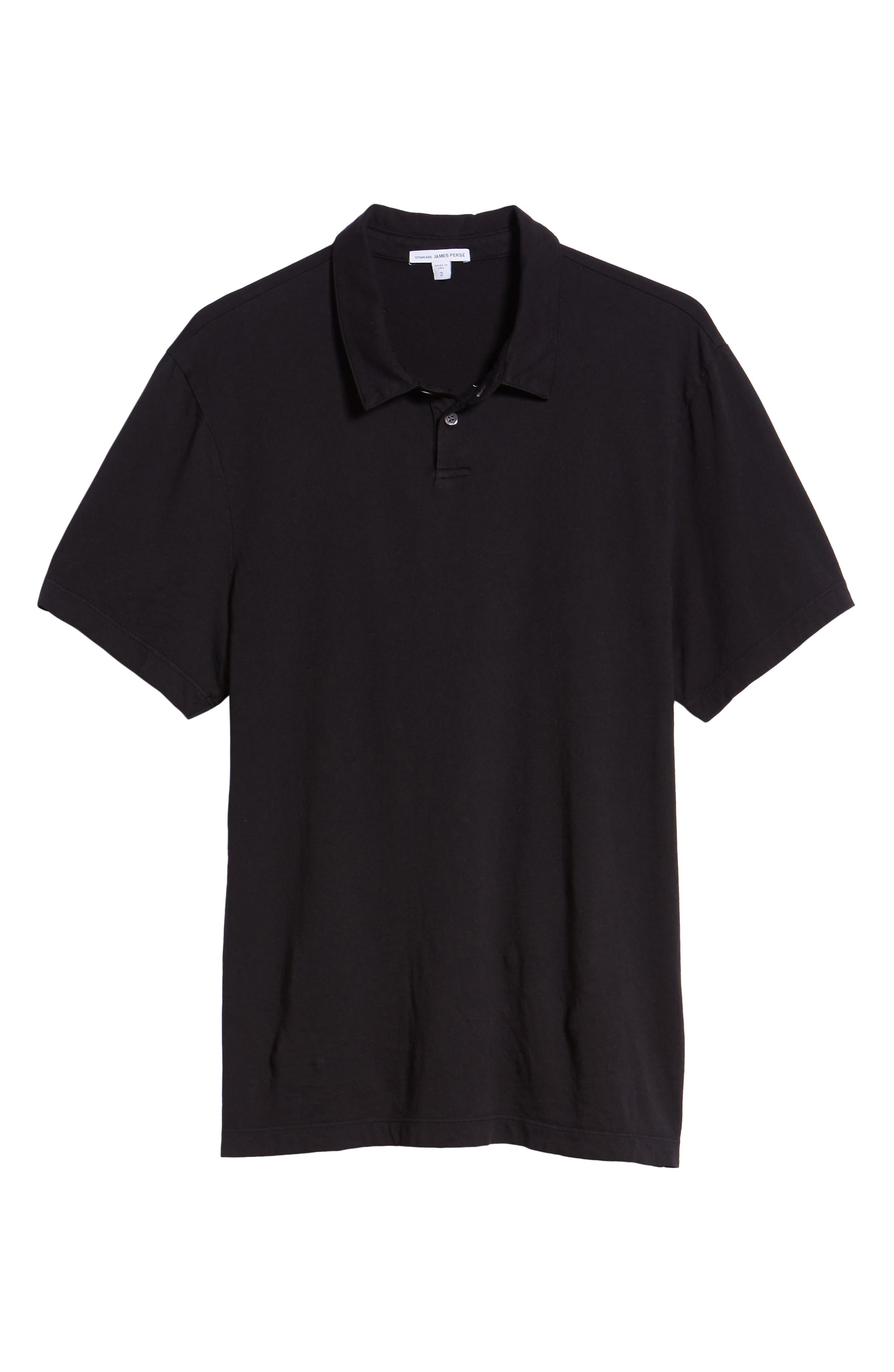 Regular Fit Jersey Polo,                             Alternate thumbnail 6, color,                             BLACK