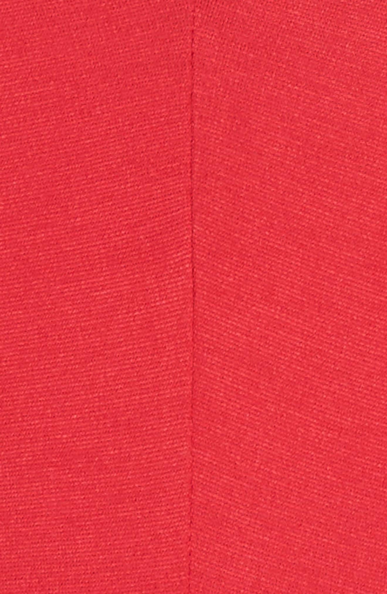 Cutout Jumpsuit,                             Alternate thumbnail 6, color,                             RED
