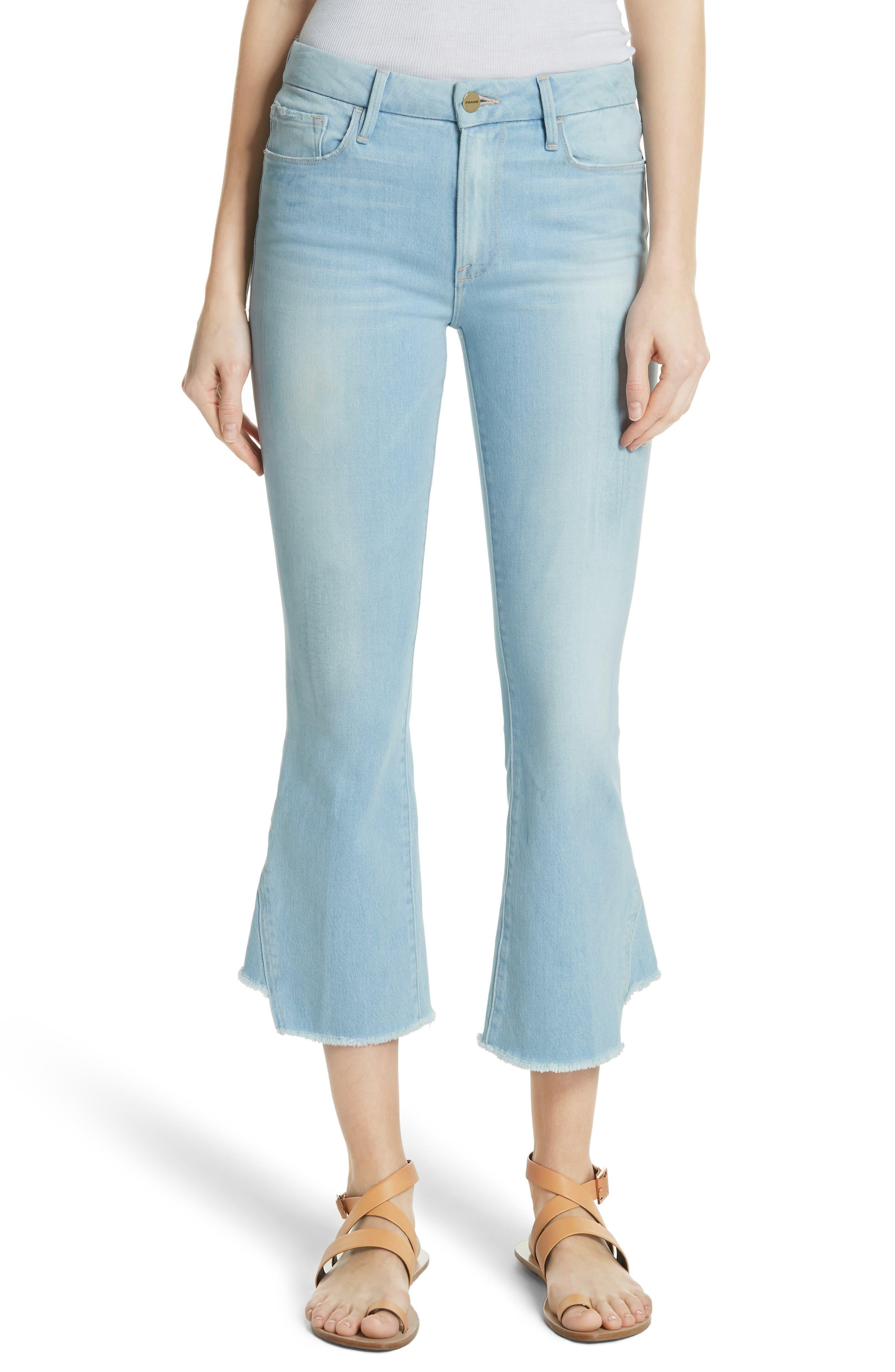 Le Crop Gusset Step Hem Mini Boot Jeans,                             Main thumbnail 1, color,                             450