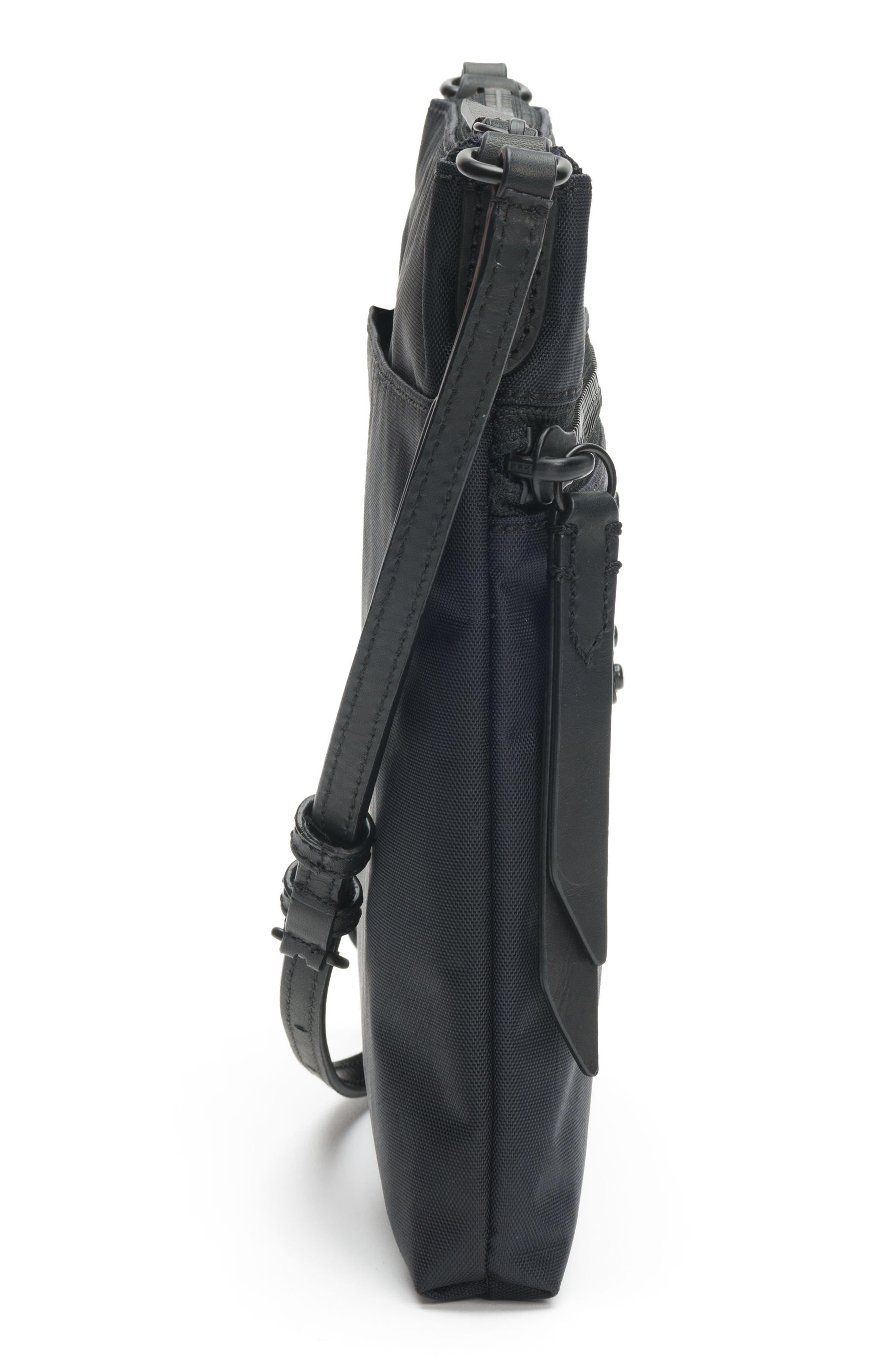 Ivy Nylon Crossbody Bag,                             Alternate thumbnail 5, color,                             MATTE BLACK
