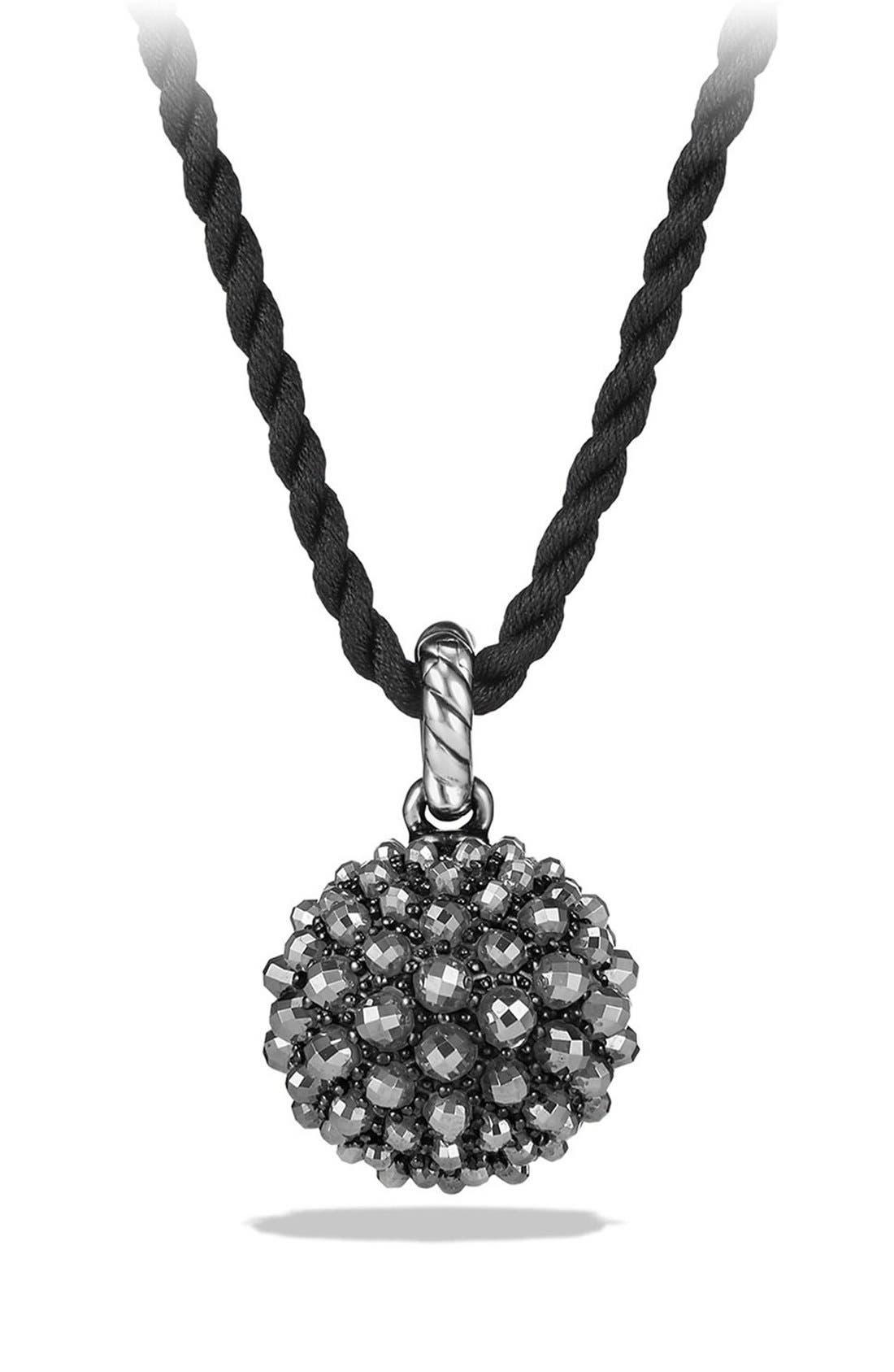 Cable Berries Pendant Necklace,                             Alternate thumbnail 3, color,                             001