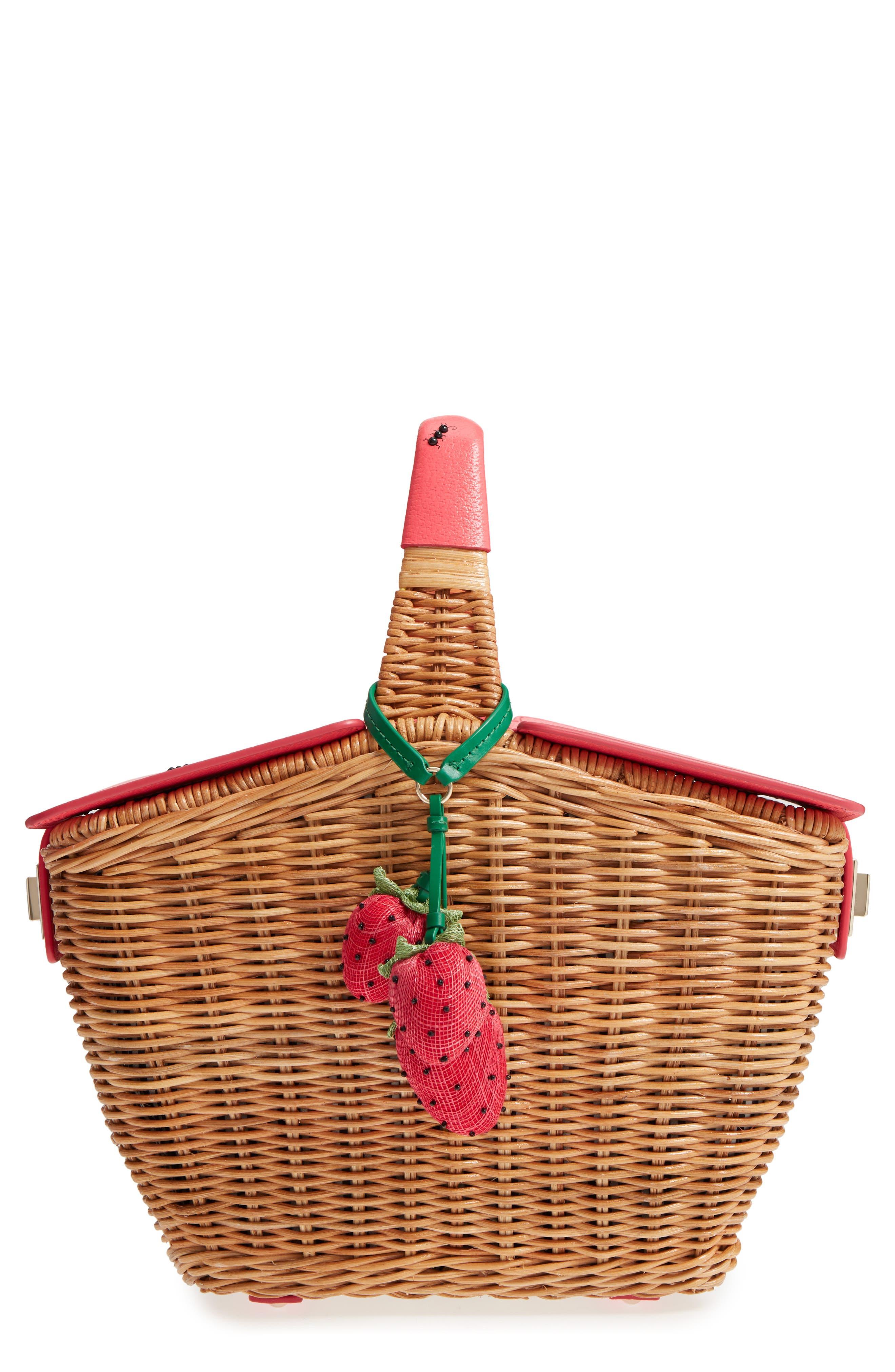 picnic perfect 3D wicker picnic basket,                             Main thumbnail 1, color,