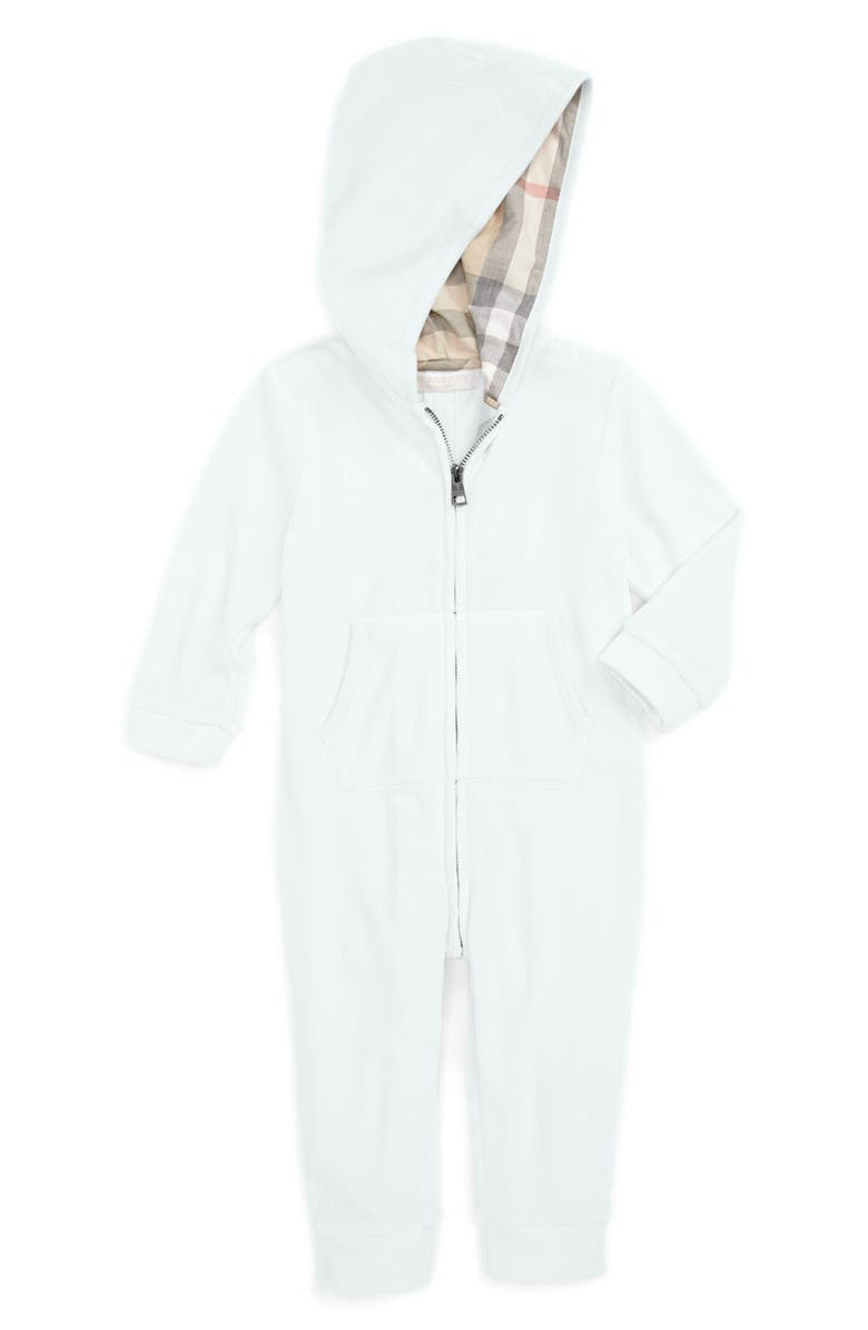 6d765fdc3a2a Burberry Hooded Velour Romper (Baby Boys)