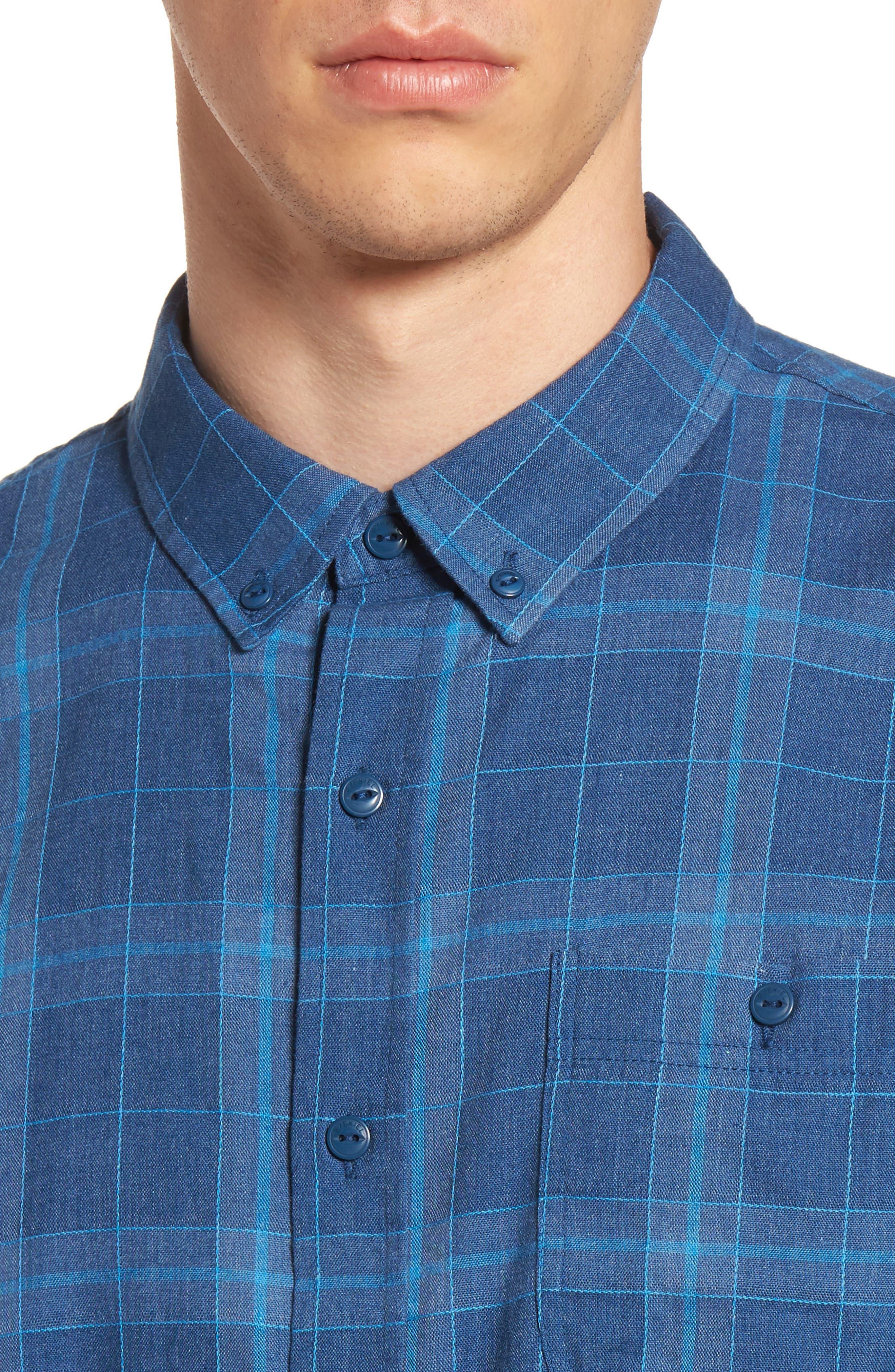 Plaid Woven Shirt,                             Alternate thumbnail 8, color,
