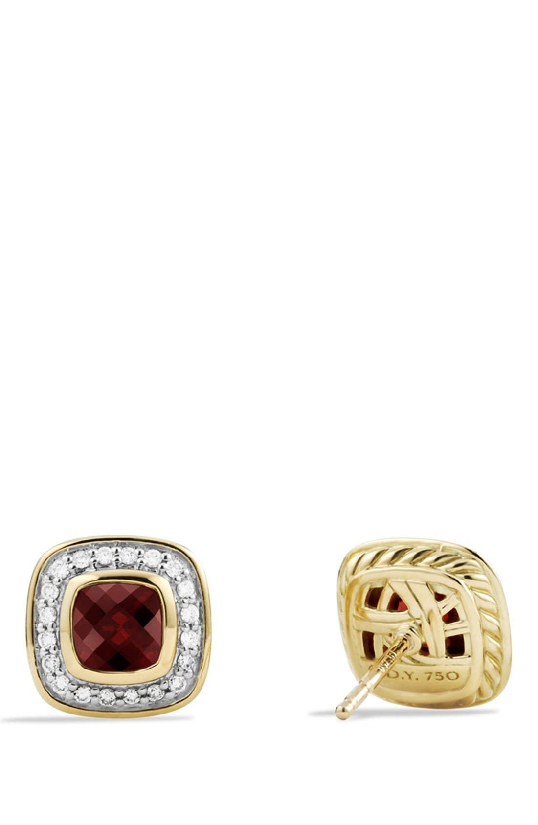 'Petite Albion' Earrings with Garnet and Diamonds,                             Alternate thumbnail 2, color,                             601