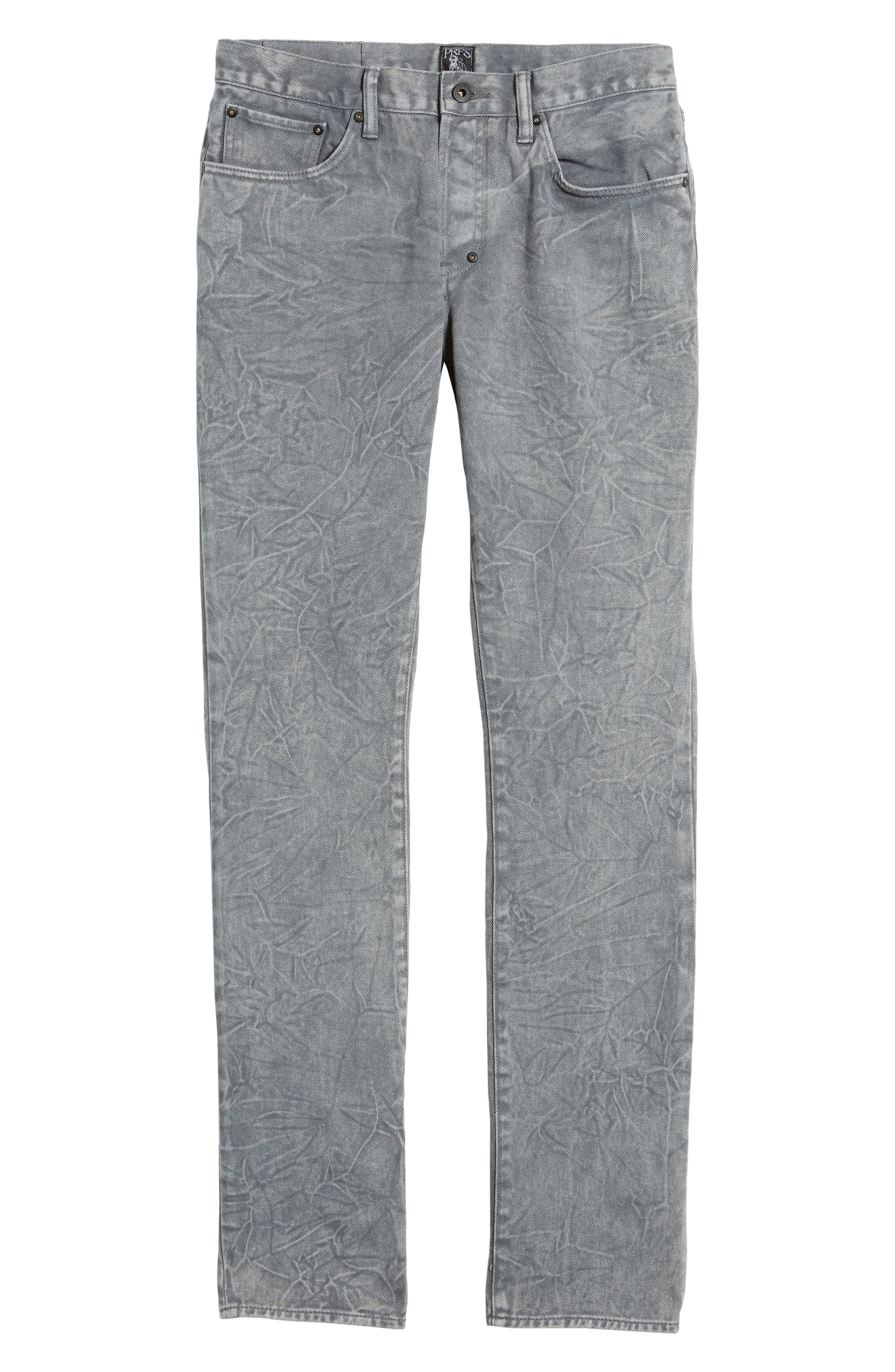 Slim Straight Leg Jeans,                             Alternate thumbnail 6, color,                             020
