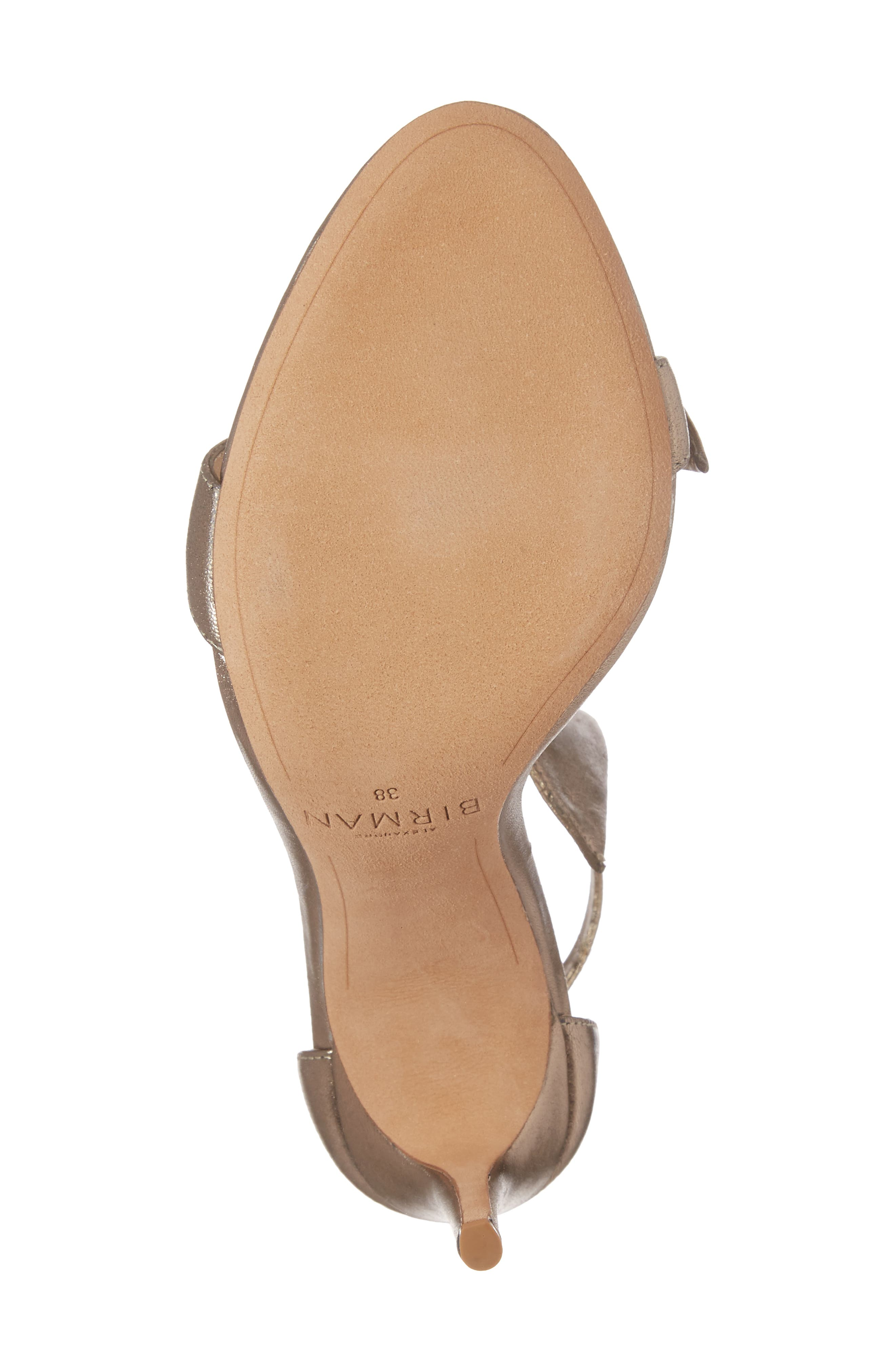 Clarita Ankle Tie Sandal,                             Alternate thumbnail 6, color,                             METALLIC GOLD LEATHER