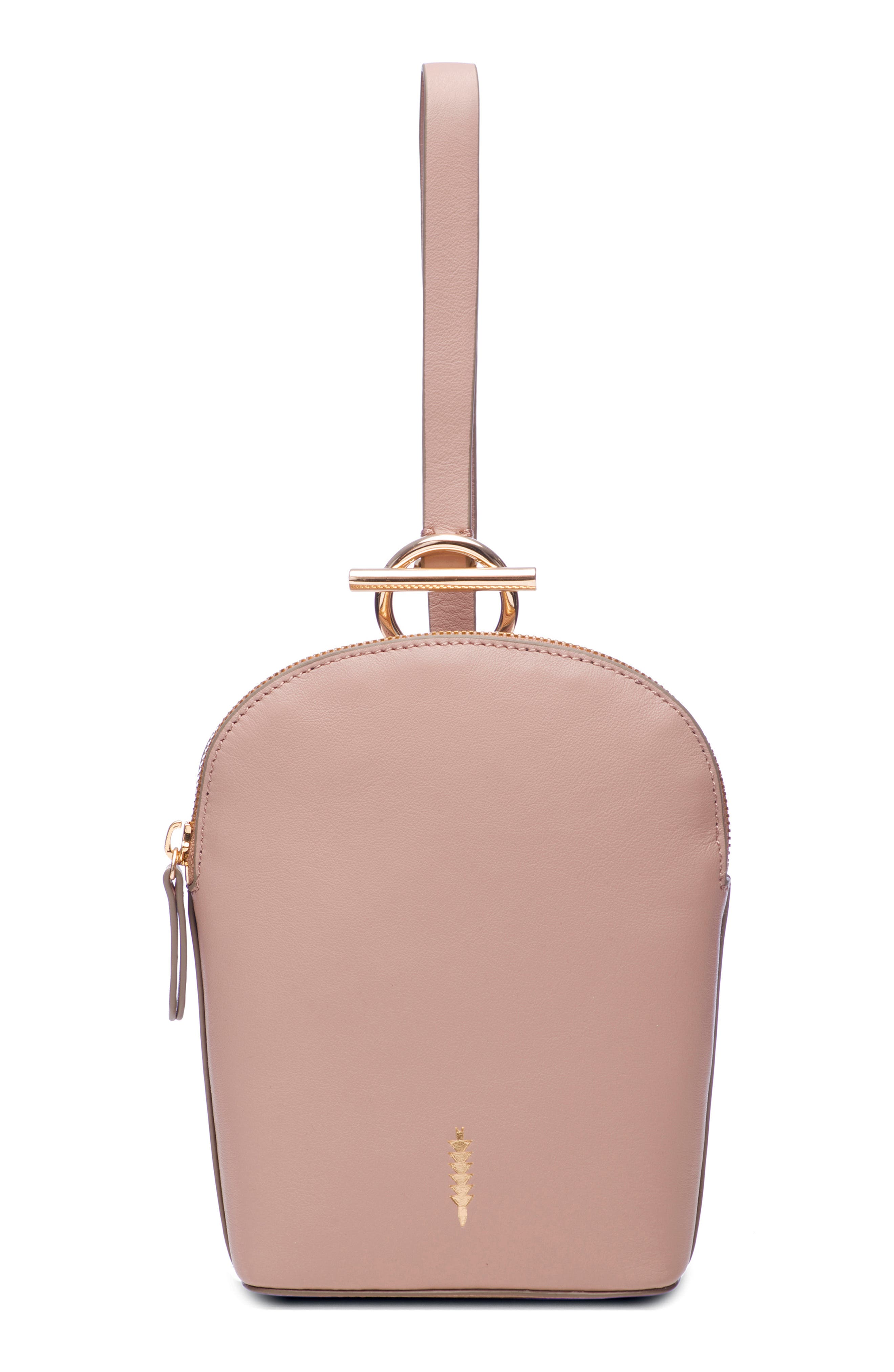 Thacker Ava Leather Wristlet - Pink