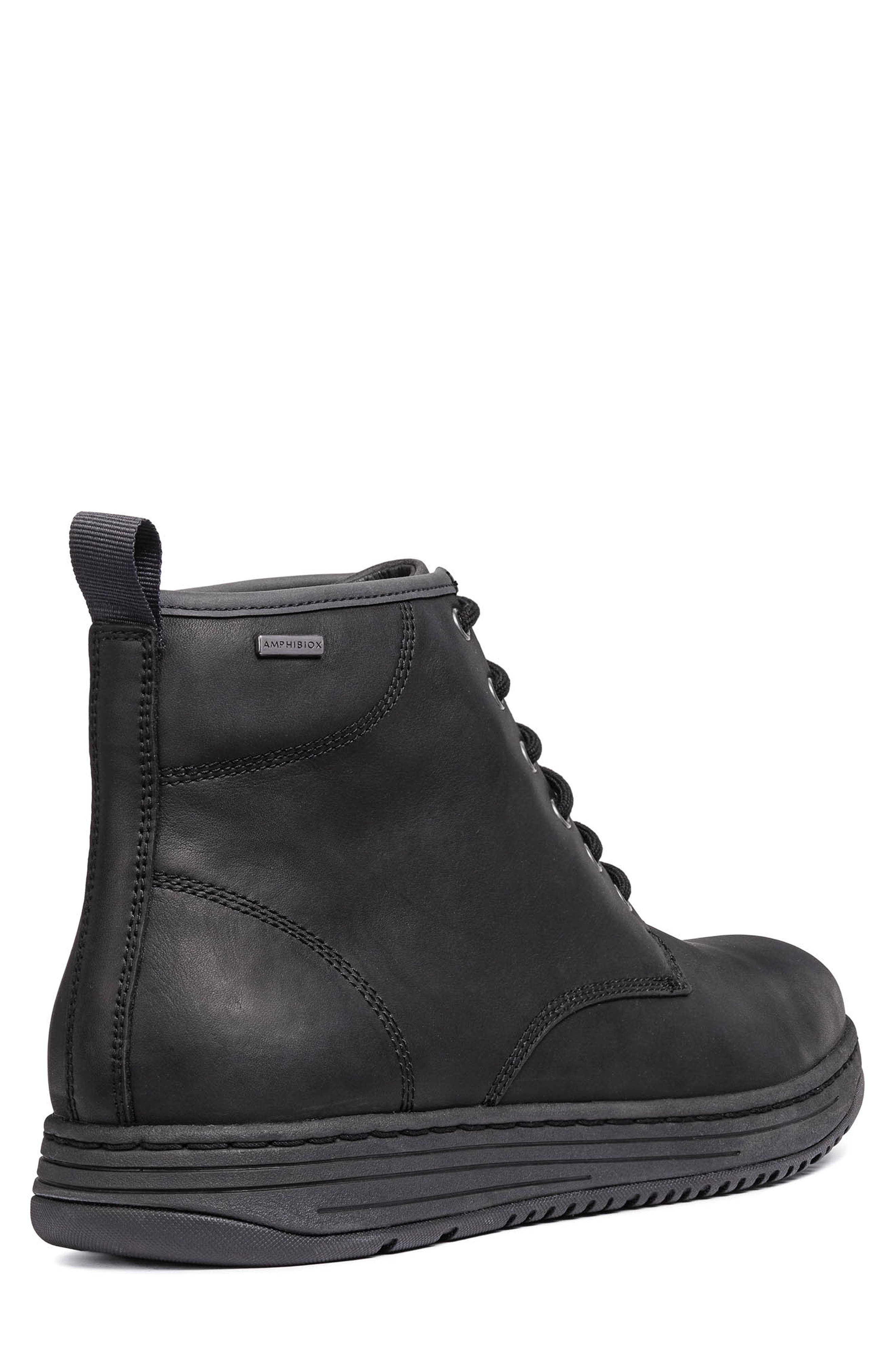 Abroad ABX 2 Tall Lace-Up Boot,                             Alternate thumbnail 8, color,                             BLACK