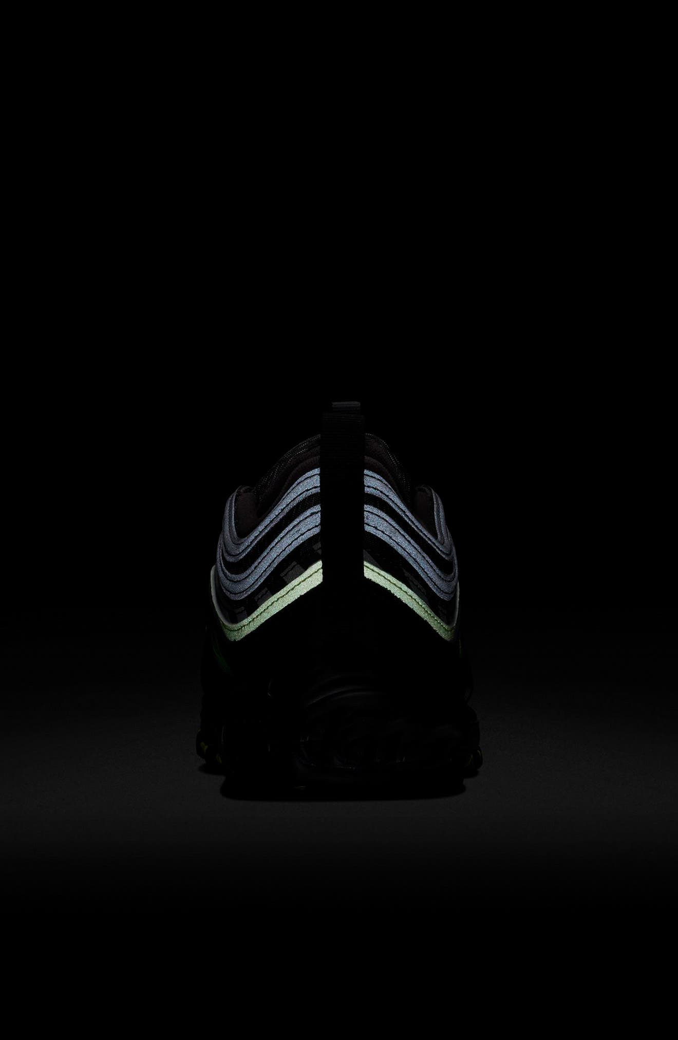 Air Max 97 Sneaker,                             Alternate thumbnail 7, color,                             THUNDER GREY/ LIME/ BLACK