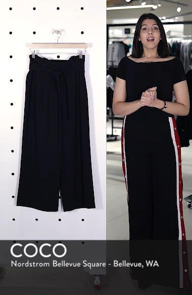 Belted Wide Leg Crop Pants, sales video thumbnail
