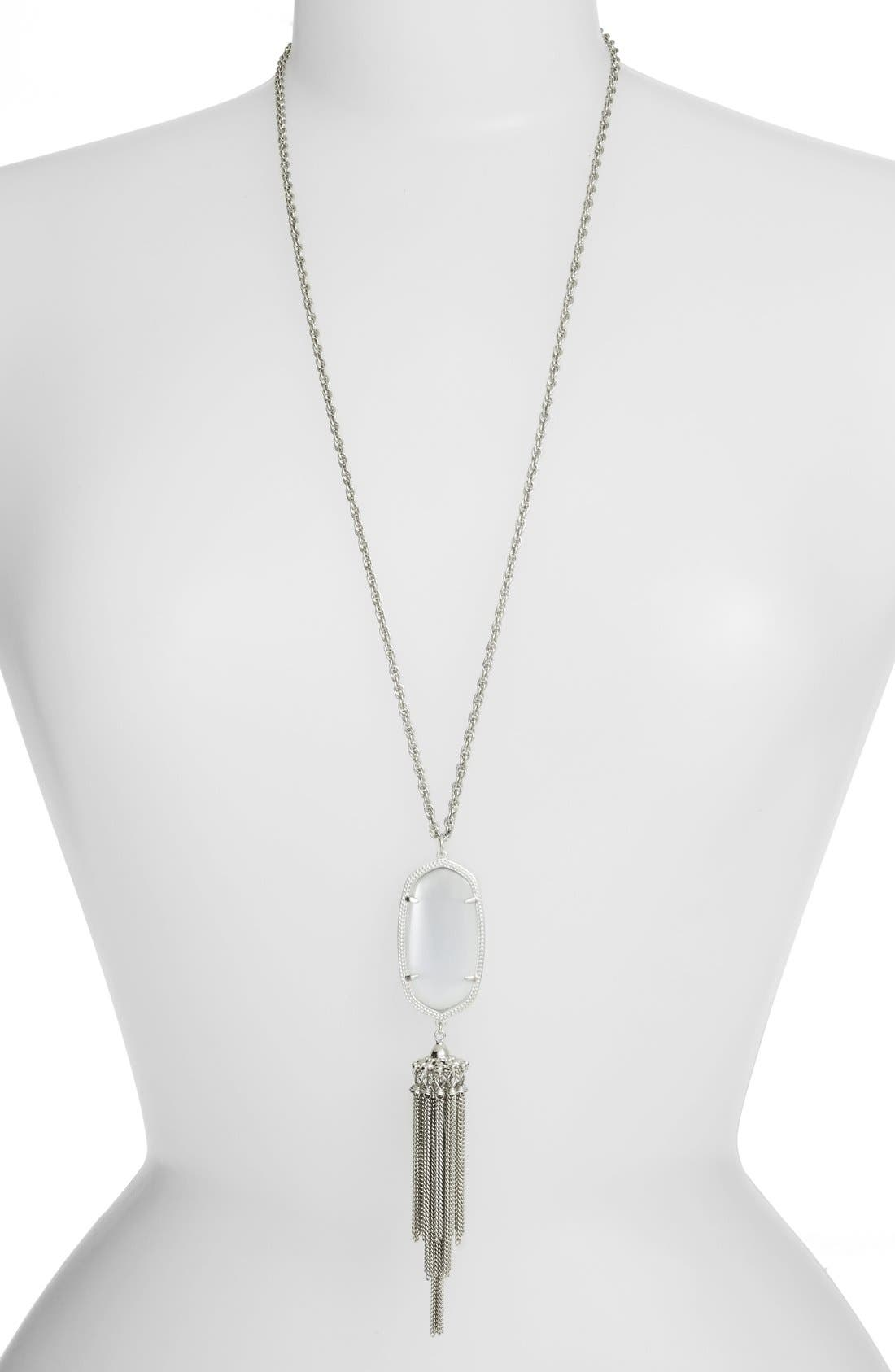 'Rayne' Tassel Pendant Necklace,                         Main,                         color, 023