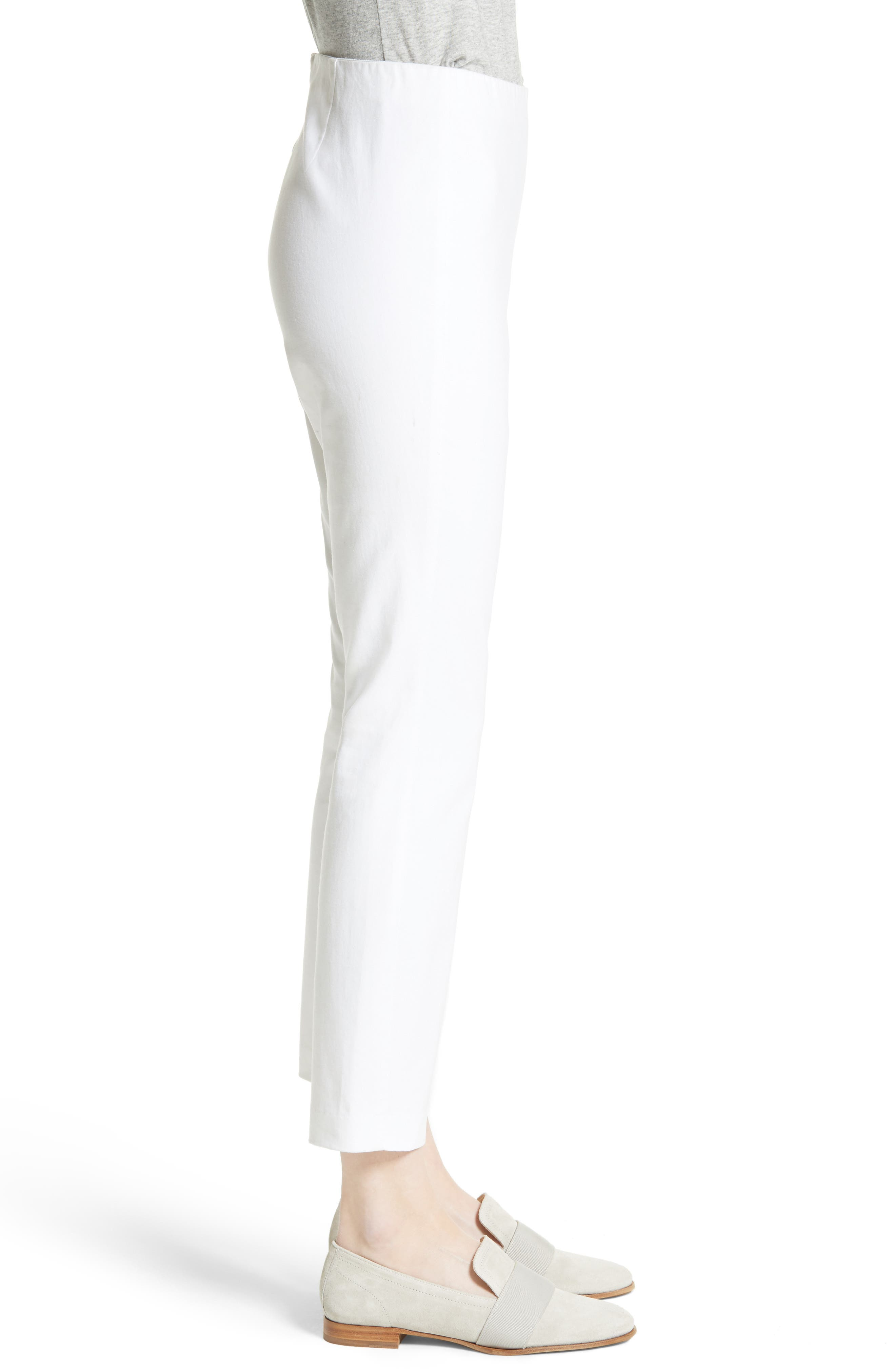 'Simone' Slim Ankle Pants,                             Alternate thumbnail 3, color,                             WHITE