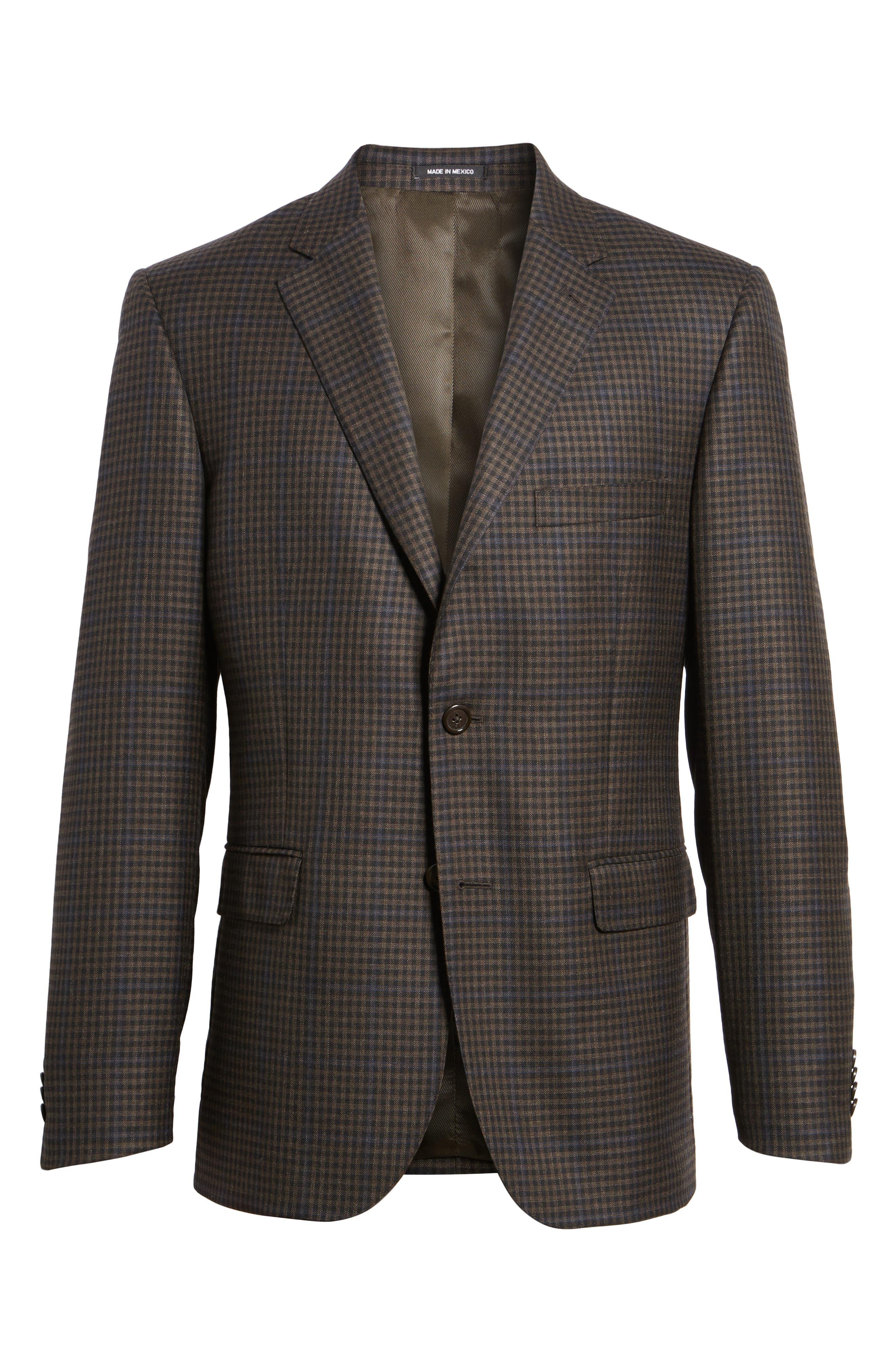 Classic Fit Plaid Wool Sport Coat,                             Alternate thumbnail 5, color,                             200