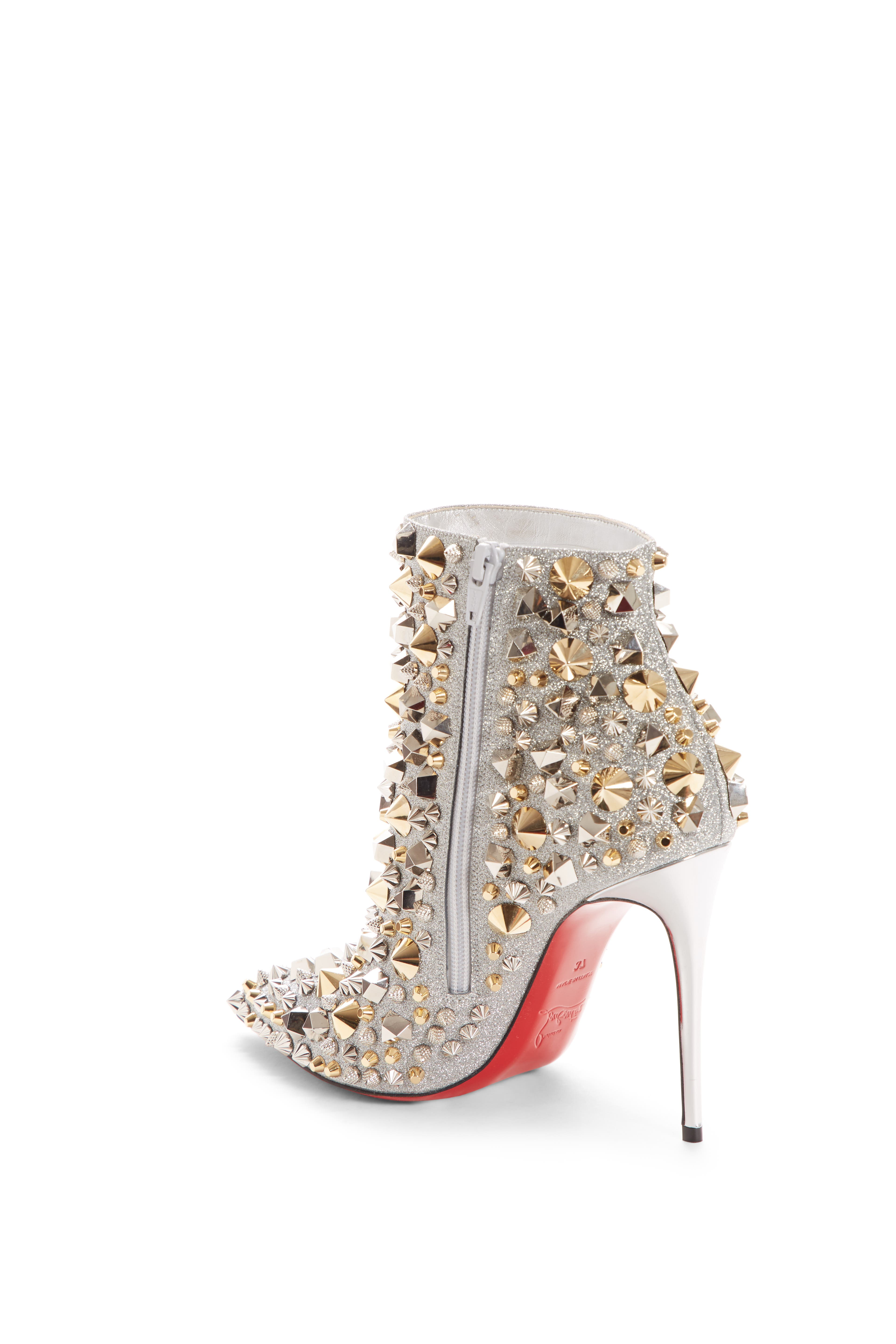 So Kate Studded Glitter Bootie,                             Alternate thumbnail 2, color,                             SILVER