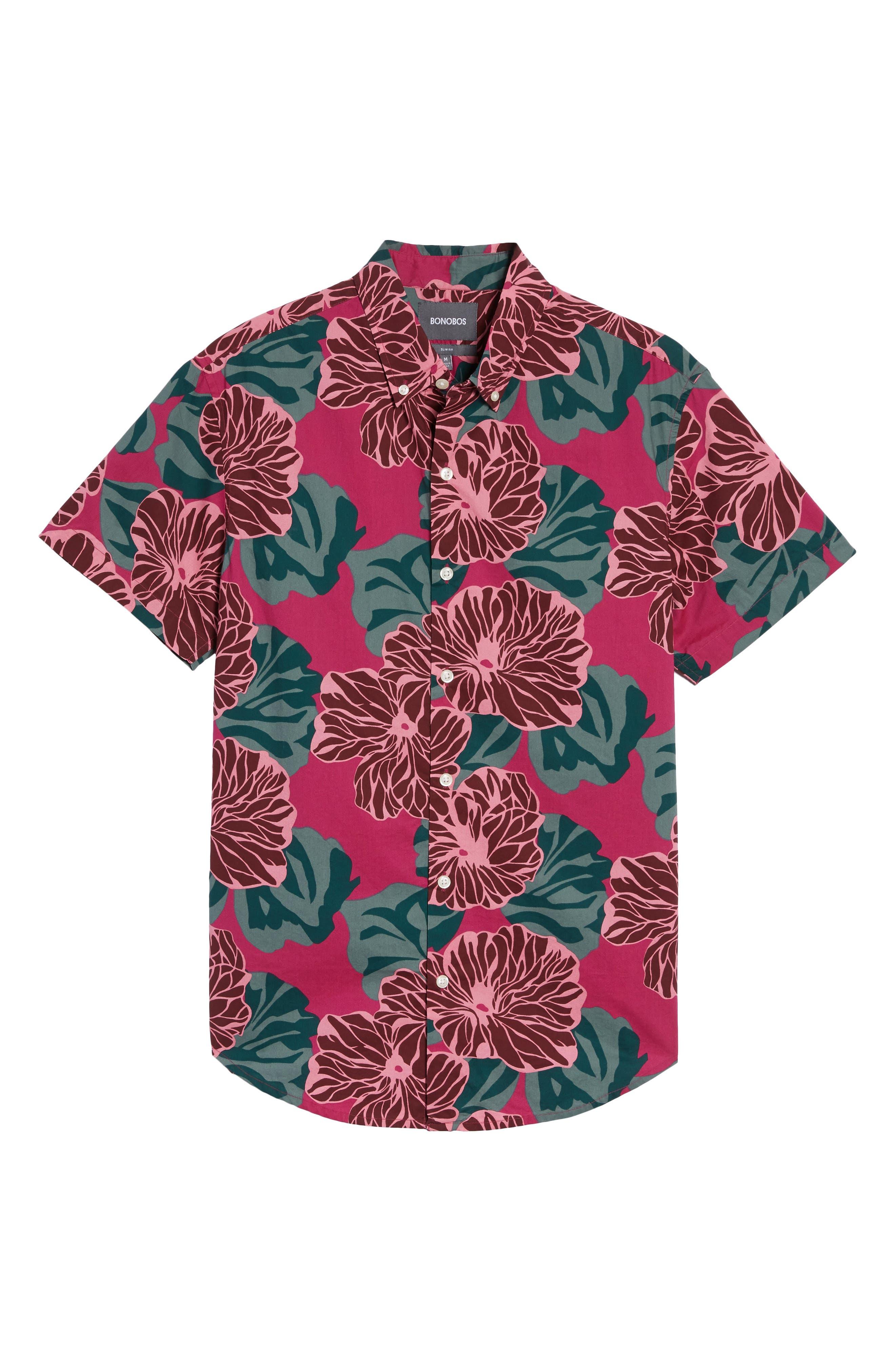 Riviera Slim Fit Short Sleeve Sport Shirt,                             Alternate thumbnail 6, color,                             650