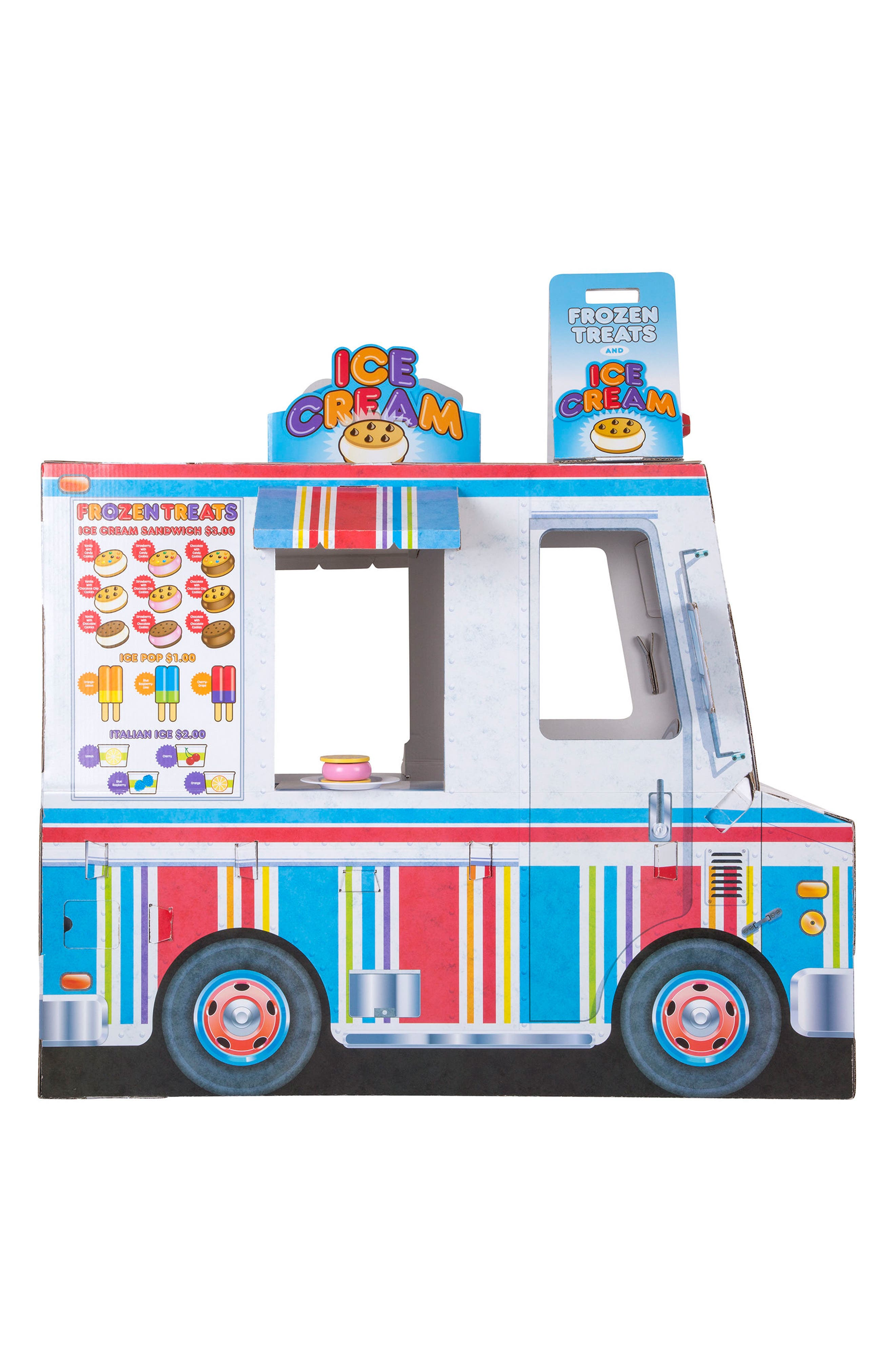 Ice Cream & Food Truck Indoor Playhouse,                             Alternate thumbnail 2, color,                             WHITE