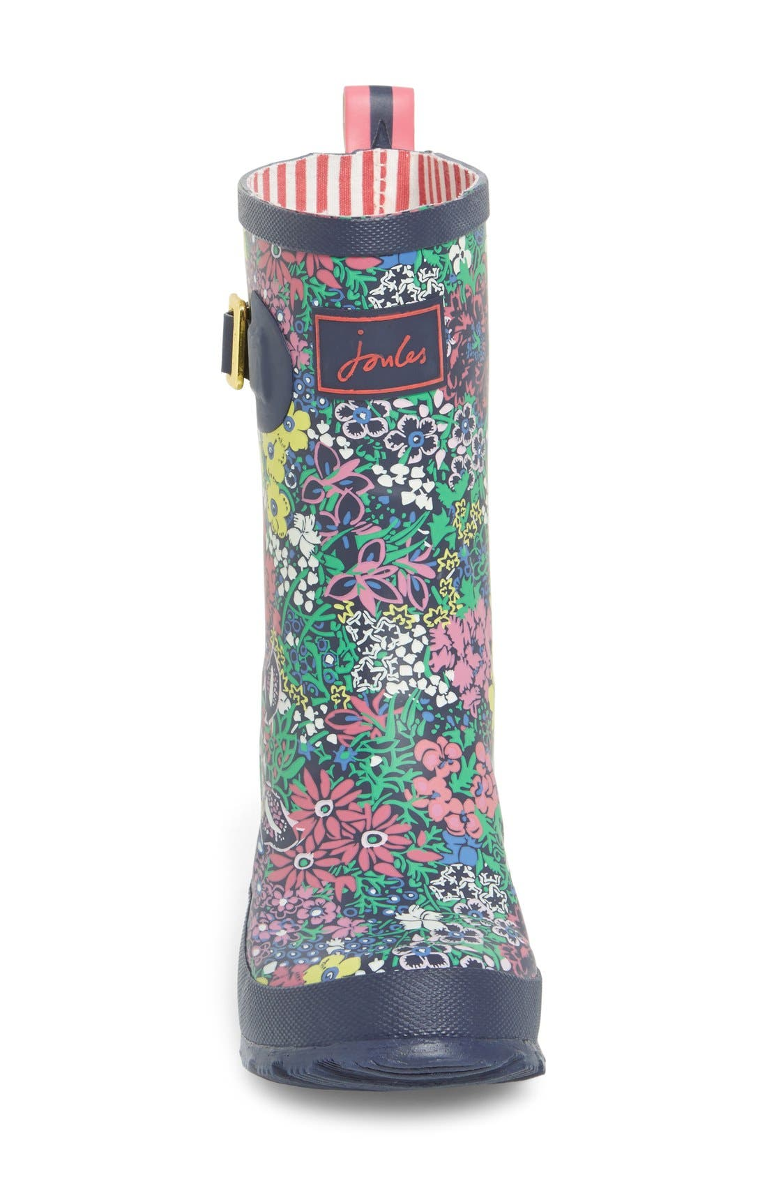 JOULES,                             Mid Height Print Welly Rain Boot,                             Alternate thumbnail 2, color,                             401