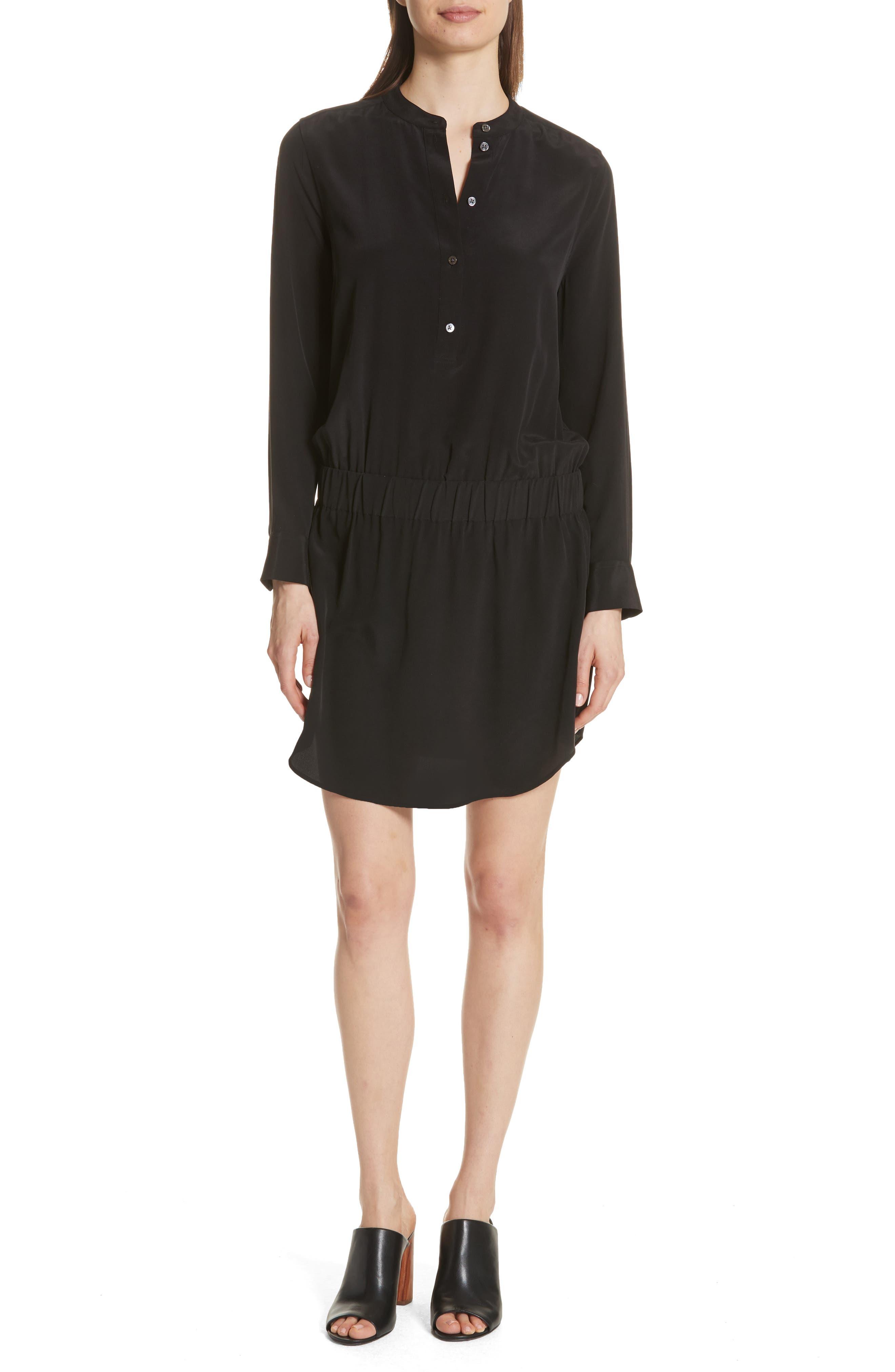 Chelsea Silk Shirtdress,                         Main,                         color, 003