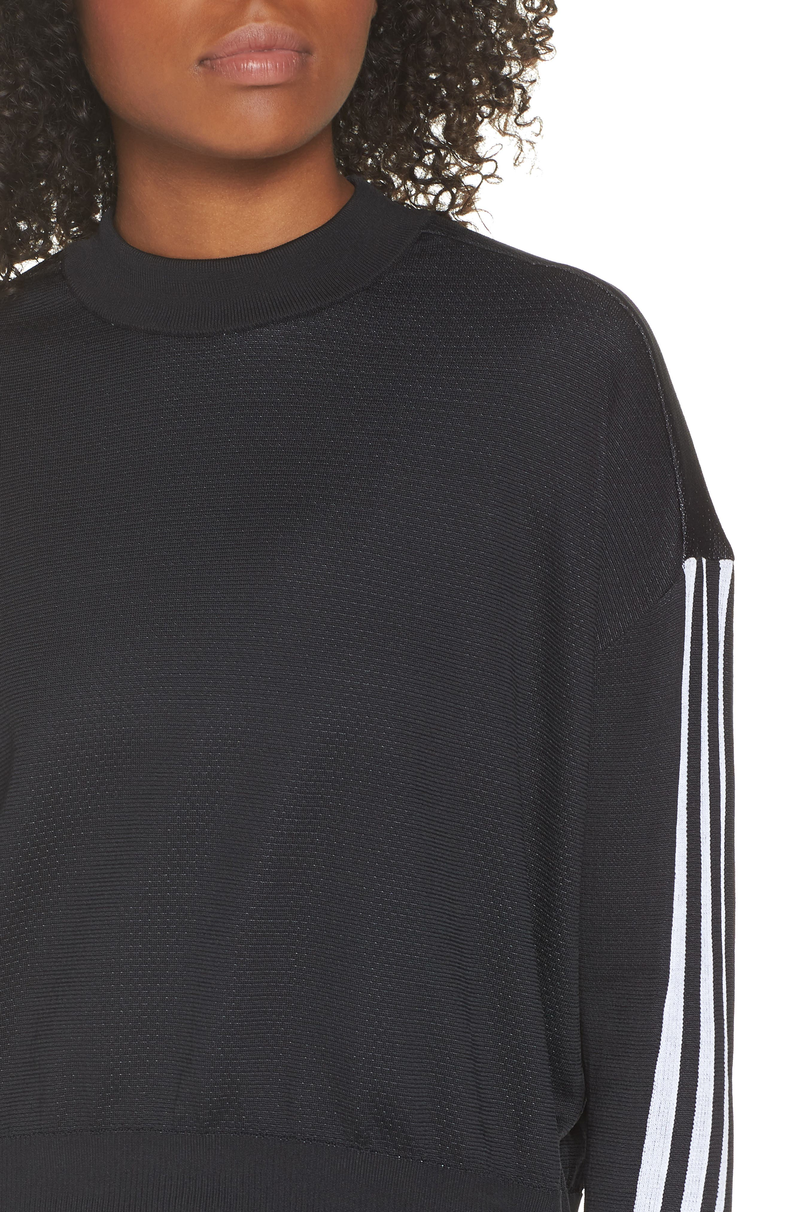 ID Knit Sweatshirt,                             Alternate thumbnail 6, color,                             001