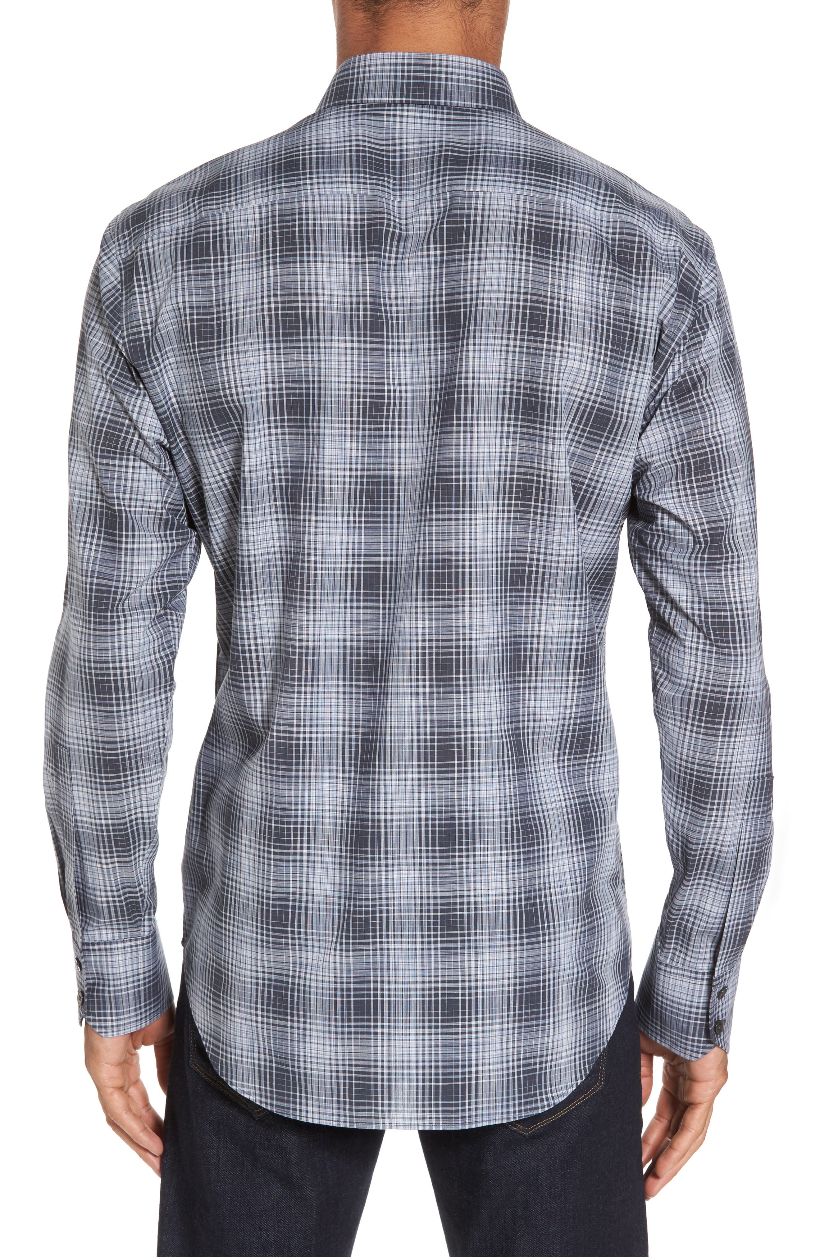 Zander Check Sport Shirt,                             Alternate thumbnail 2, color,                             021