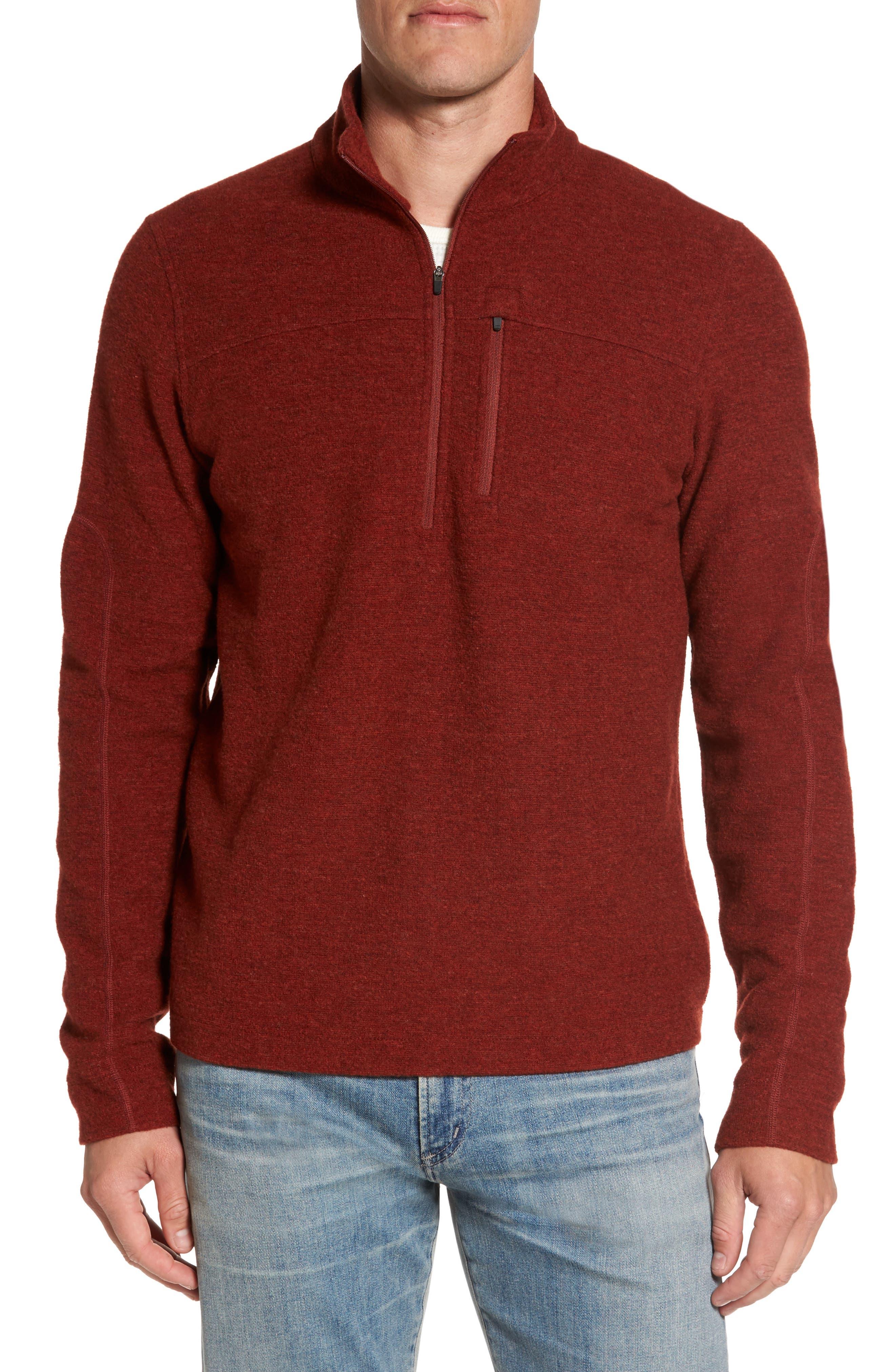 Scout Jura Merino Wool Blend Quarter Zip Pullover,                             Main thumbnail 5, color,
