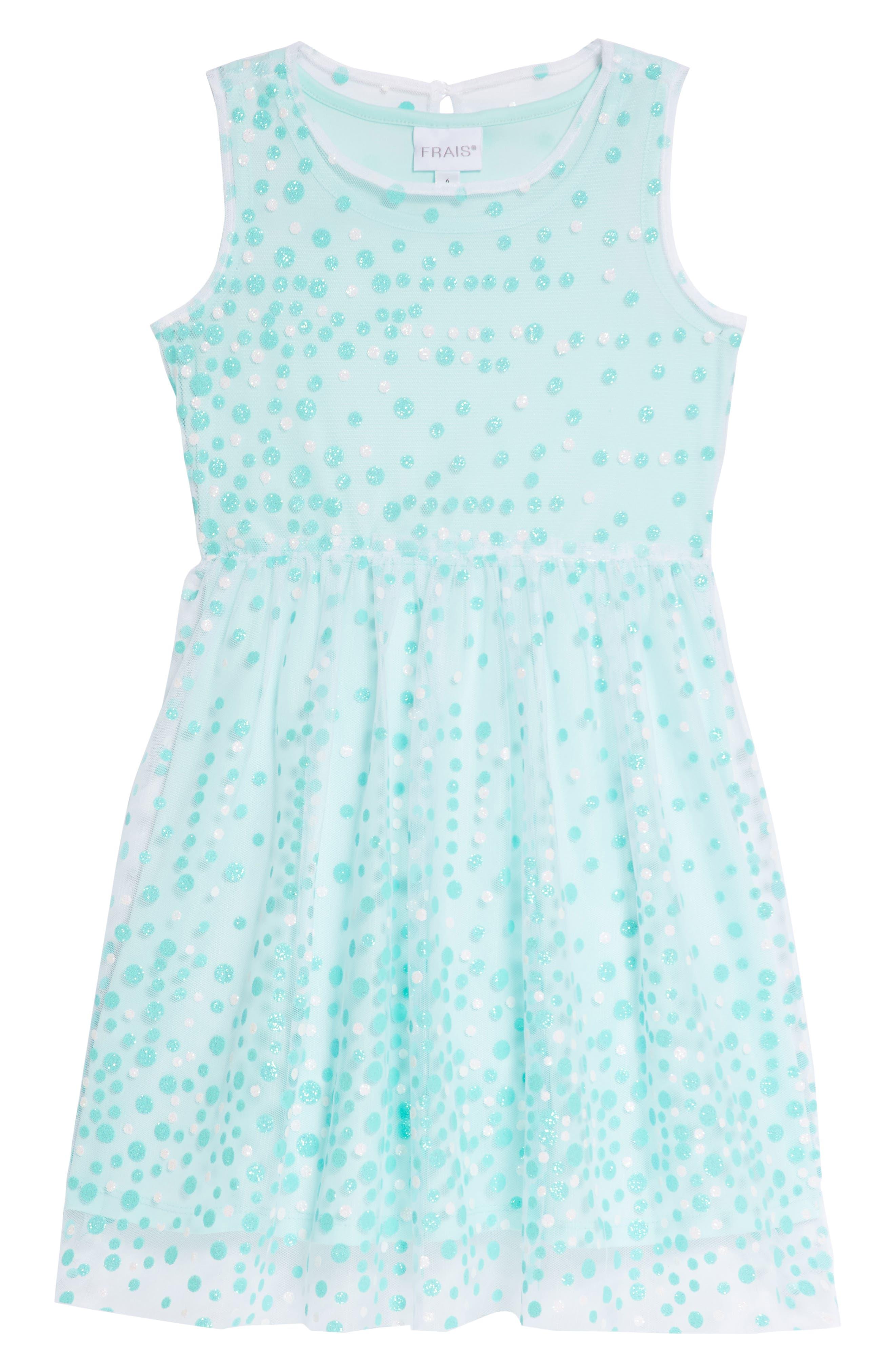 Glitter Dot Sleeveless Dress,                         Main,                         color, 440