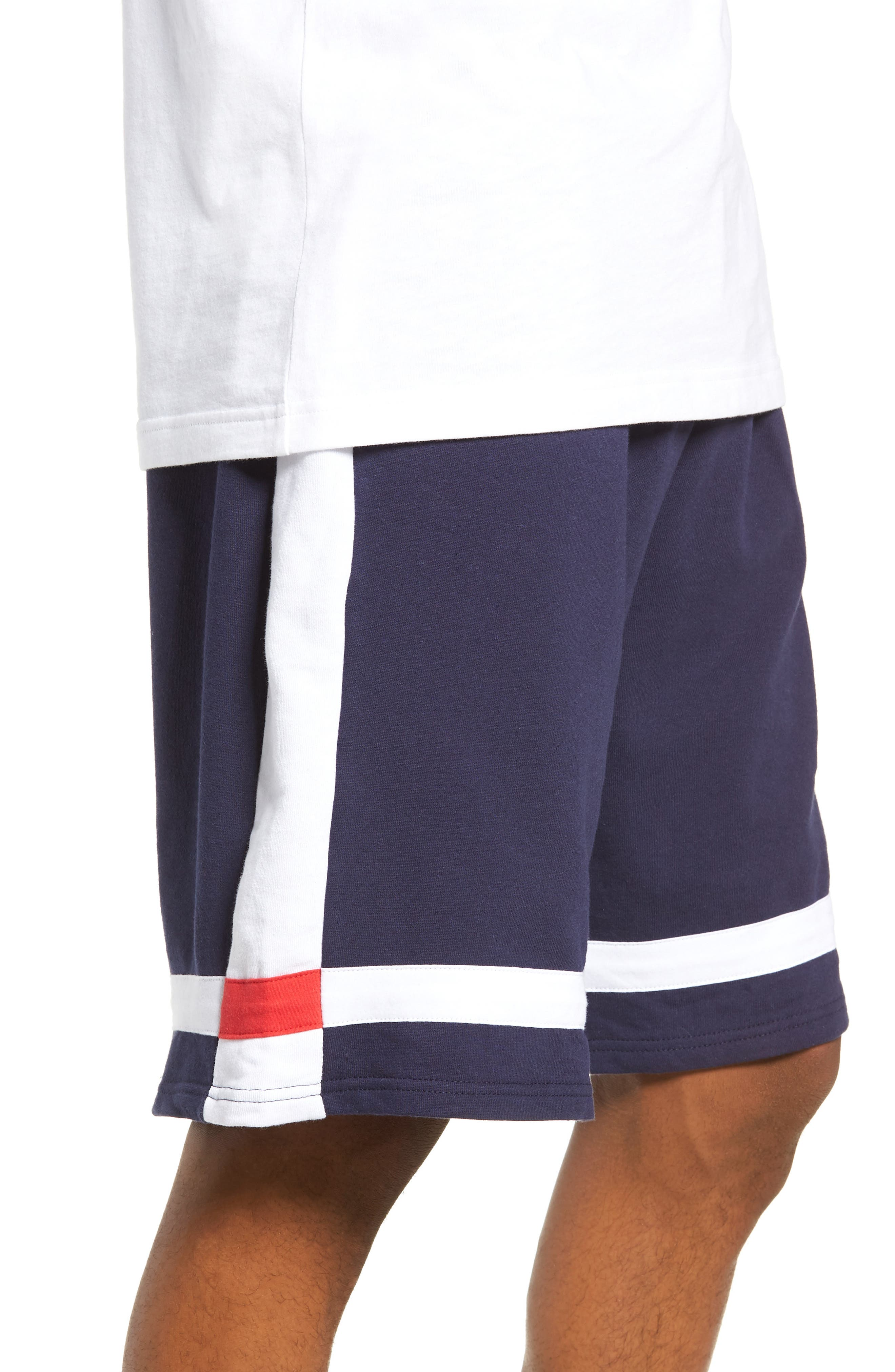 Striped Athletic Shorts,                             Alternate thumbnail 4, color,                             410