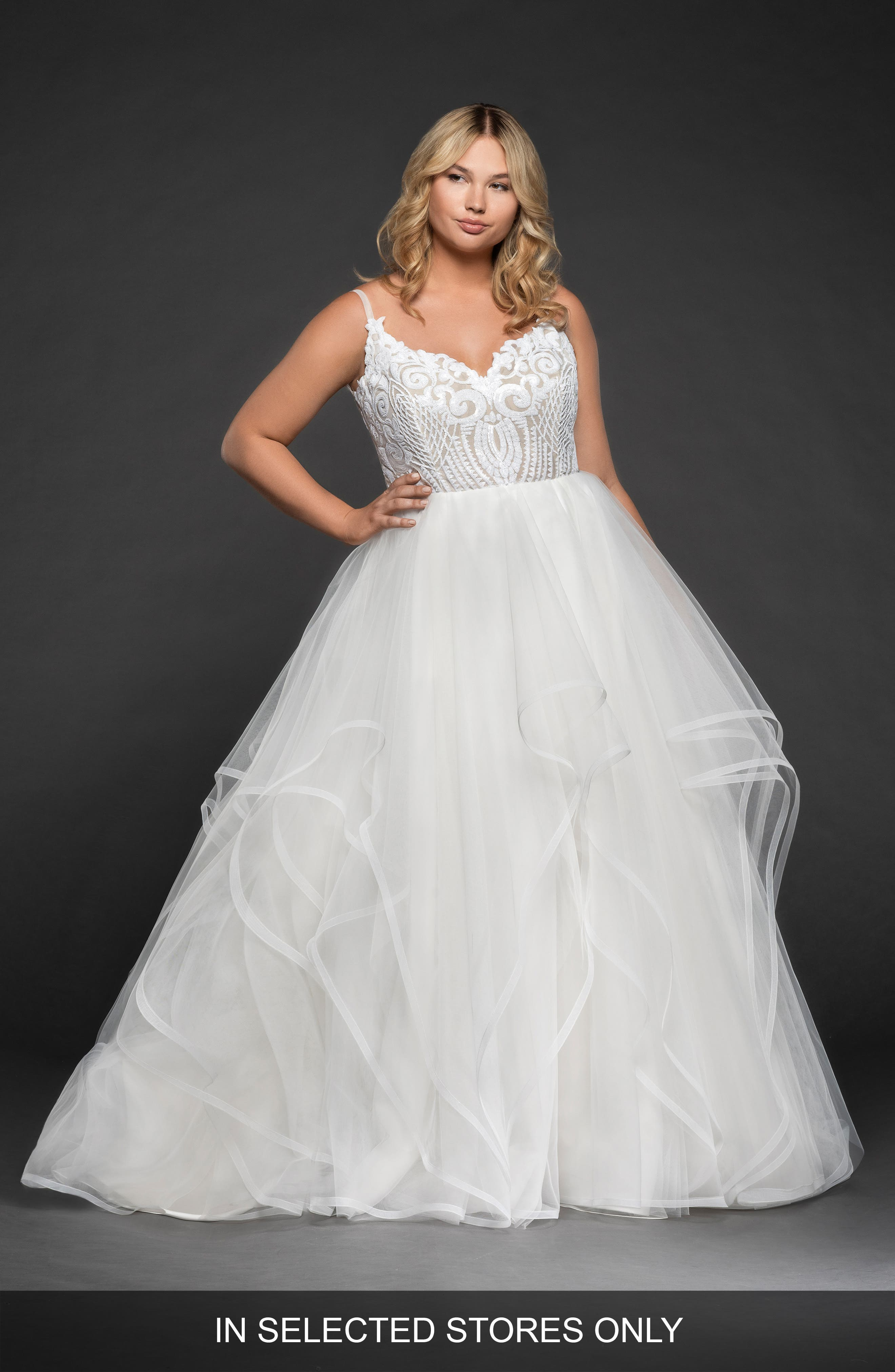 Pepper Draped Tulle Ballgown,                         Main,                         color, SOLID IVORY