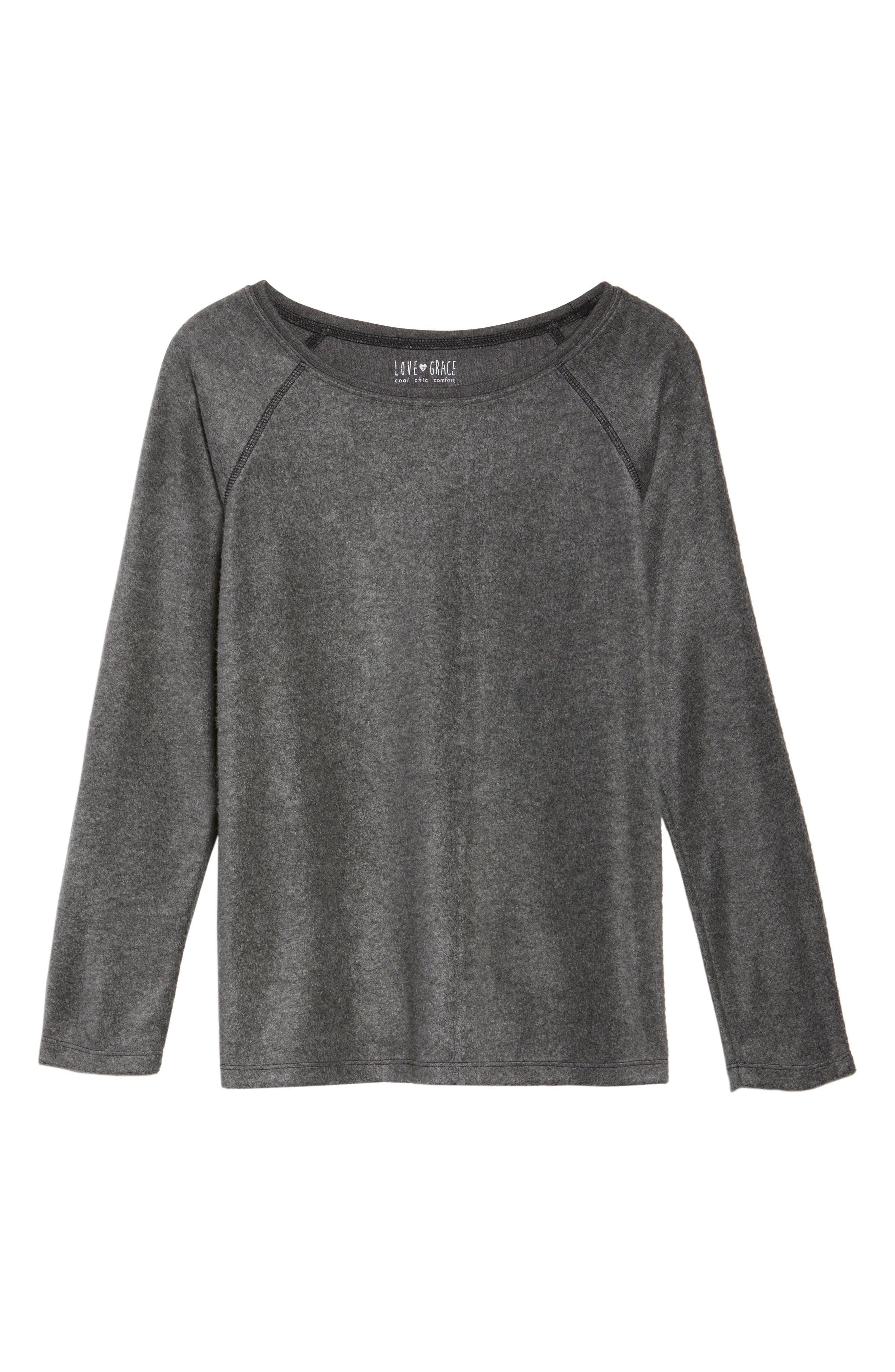 Gena Fleece Sweatshirt,                             Alternate thumbnail 6, color,                             020