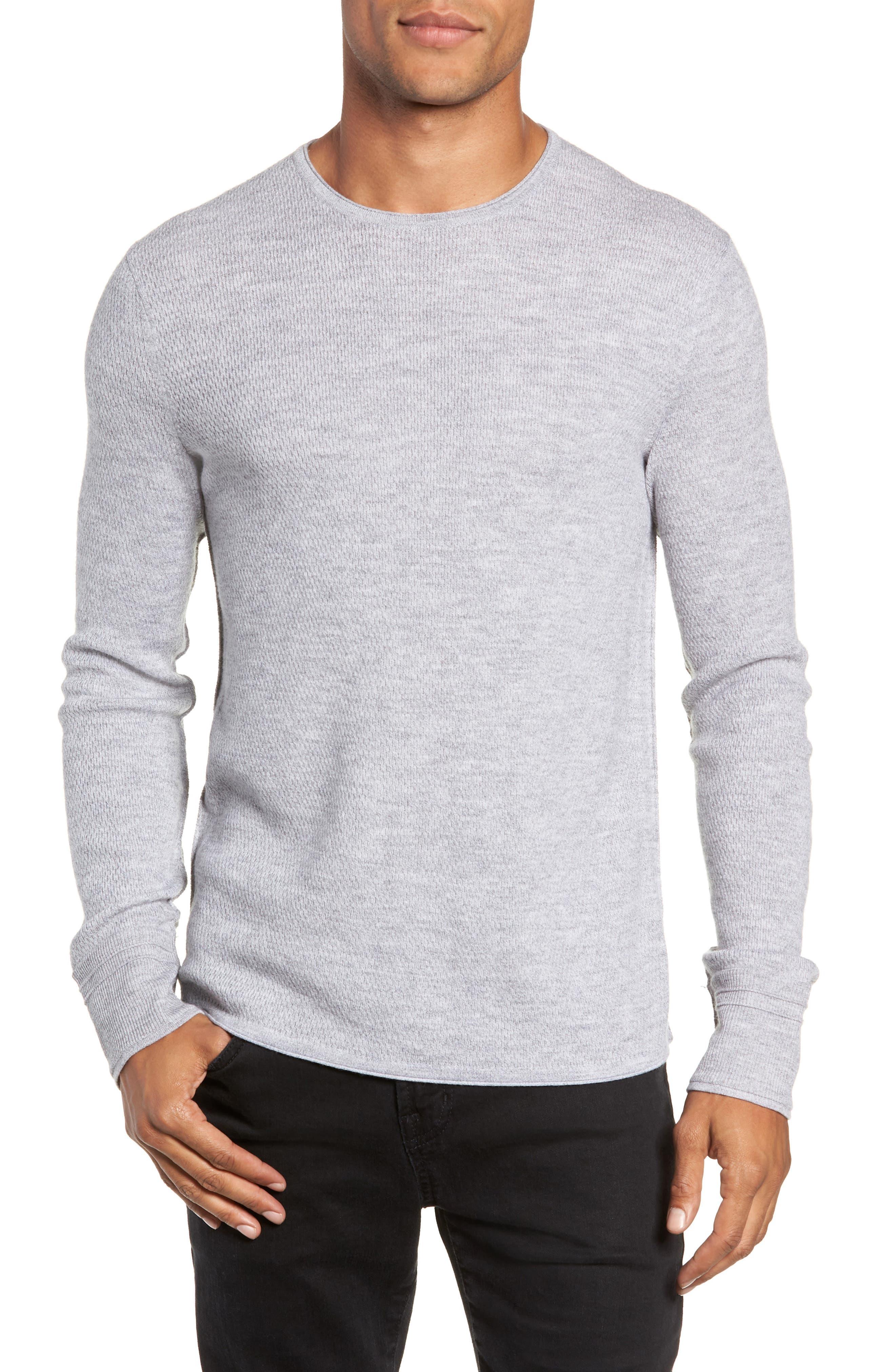 Rag & Bone Gregory Merino Wool Blend Crewneck Sweater, Grey