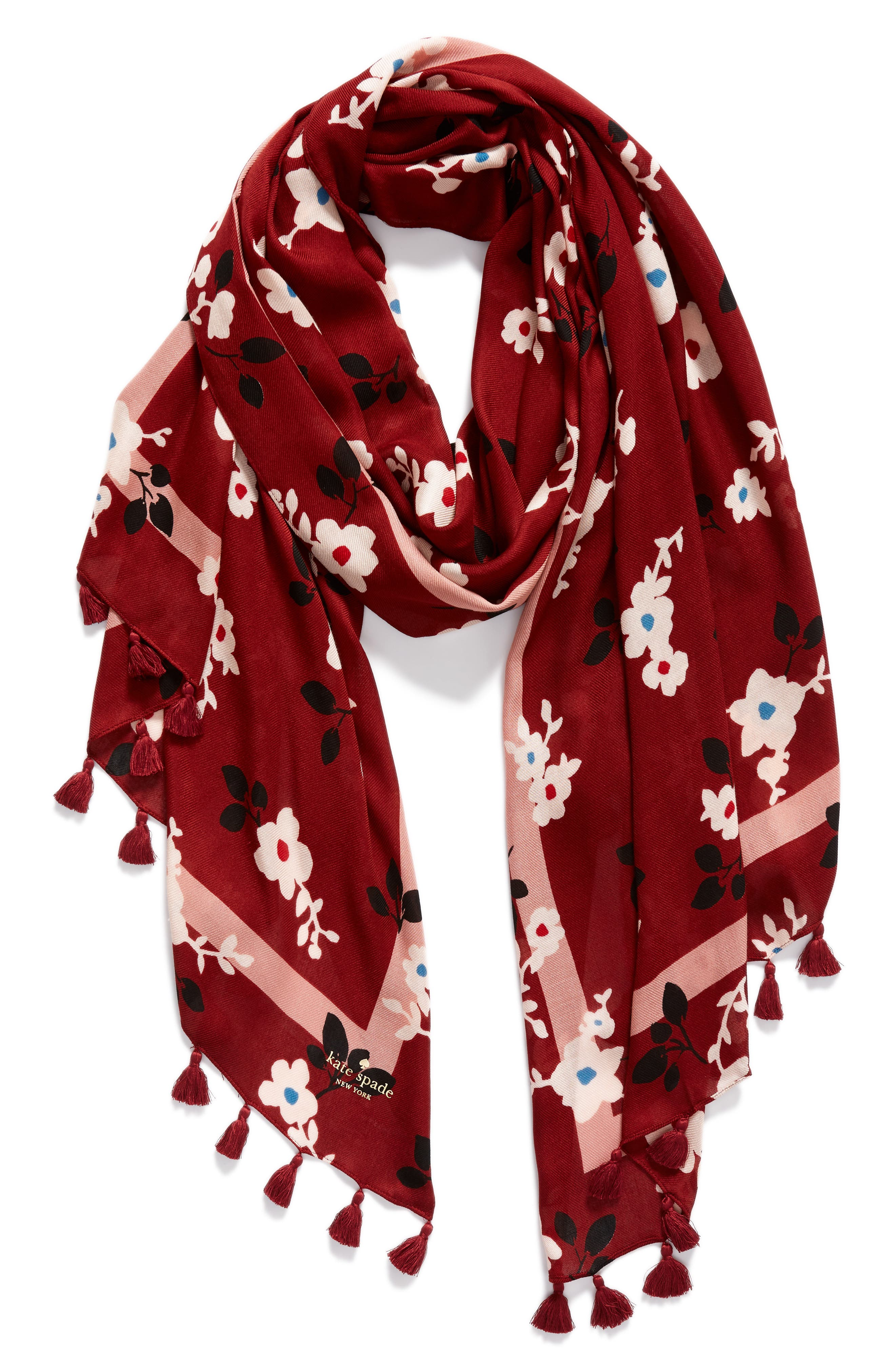 camellia scarf,                             Alternate thumbnail 2, color,                             600