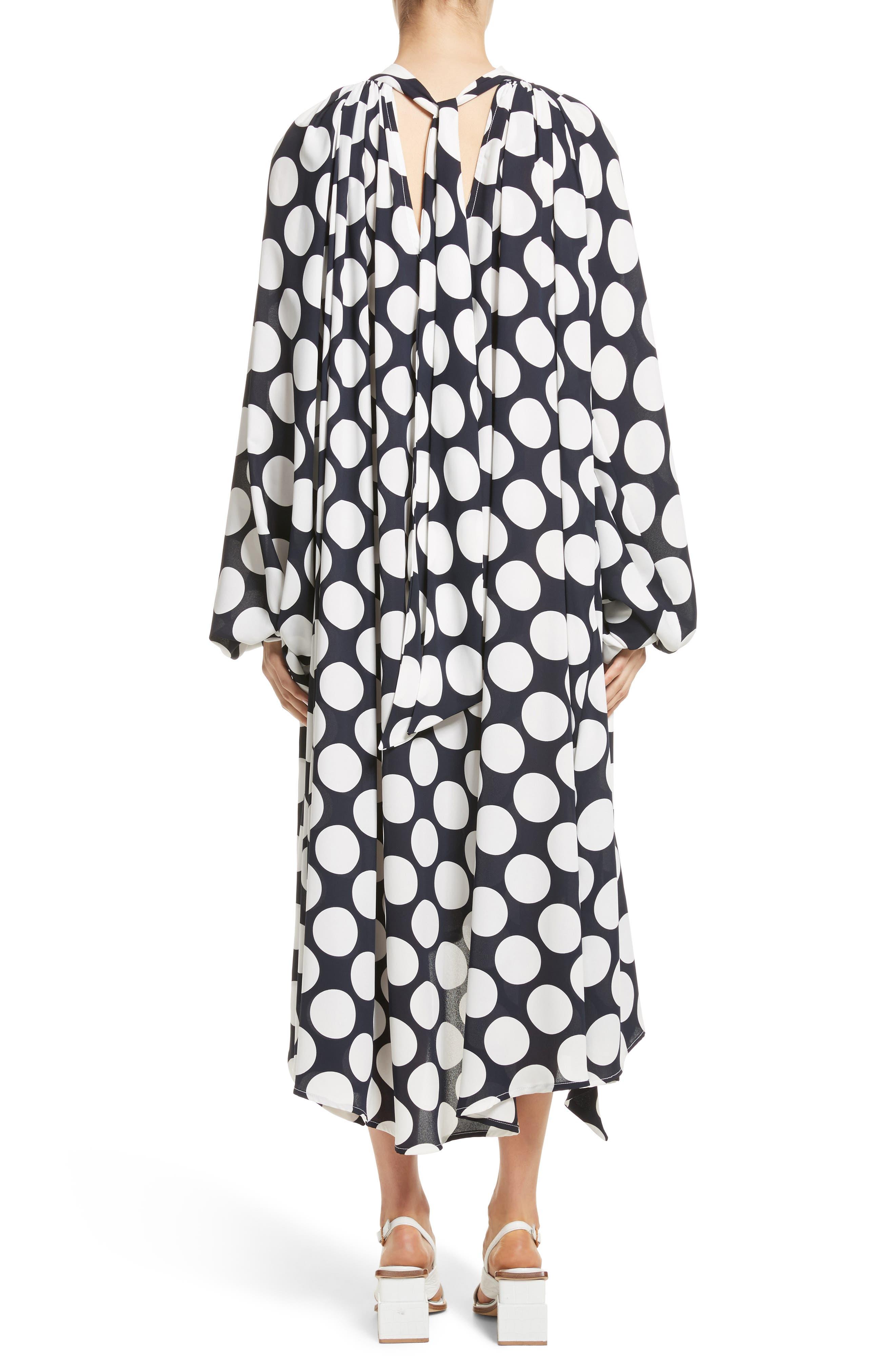 Giant Polka Dot Gathered Collar Dress,                             Alternate thumbnail 2, color,                             410