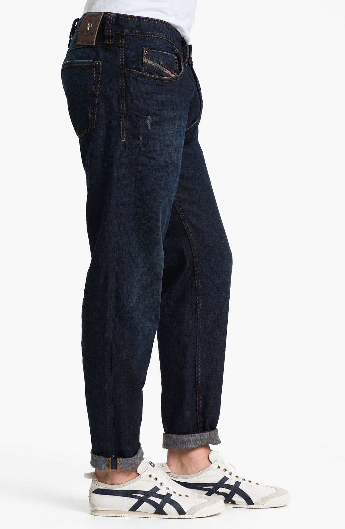 'Back in the Saddle' Relaxed Tapered Leg Jeans,                             Alternate thumbnail 3, color,                             400