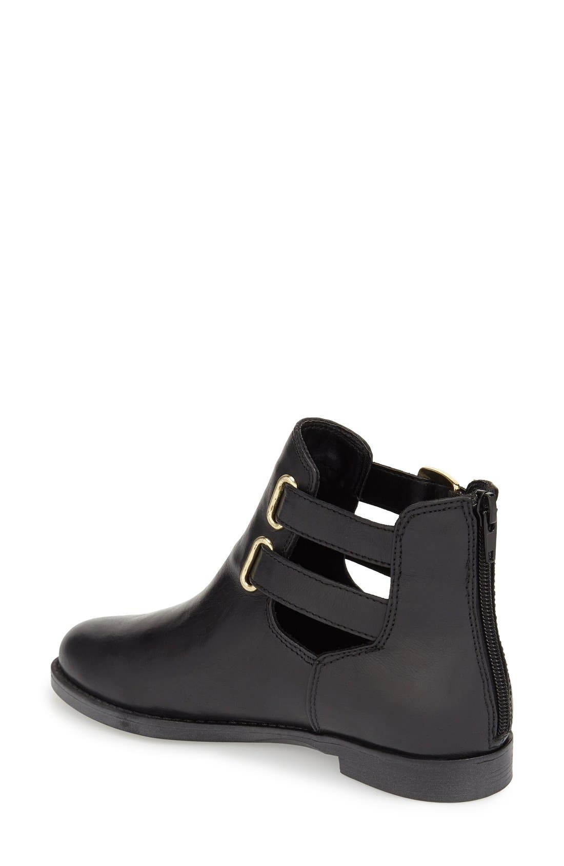 'Ramona' Double Buckle Bootie,                             Alternate thumbnail 2, color,                             001