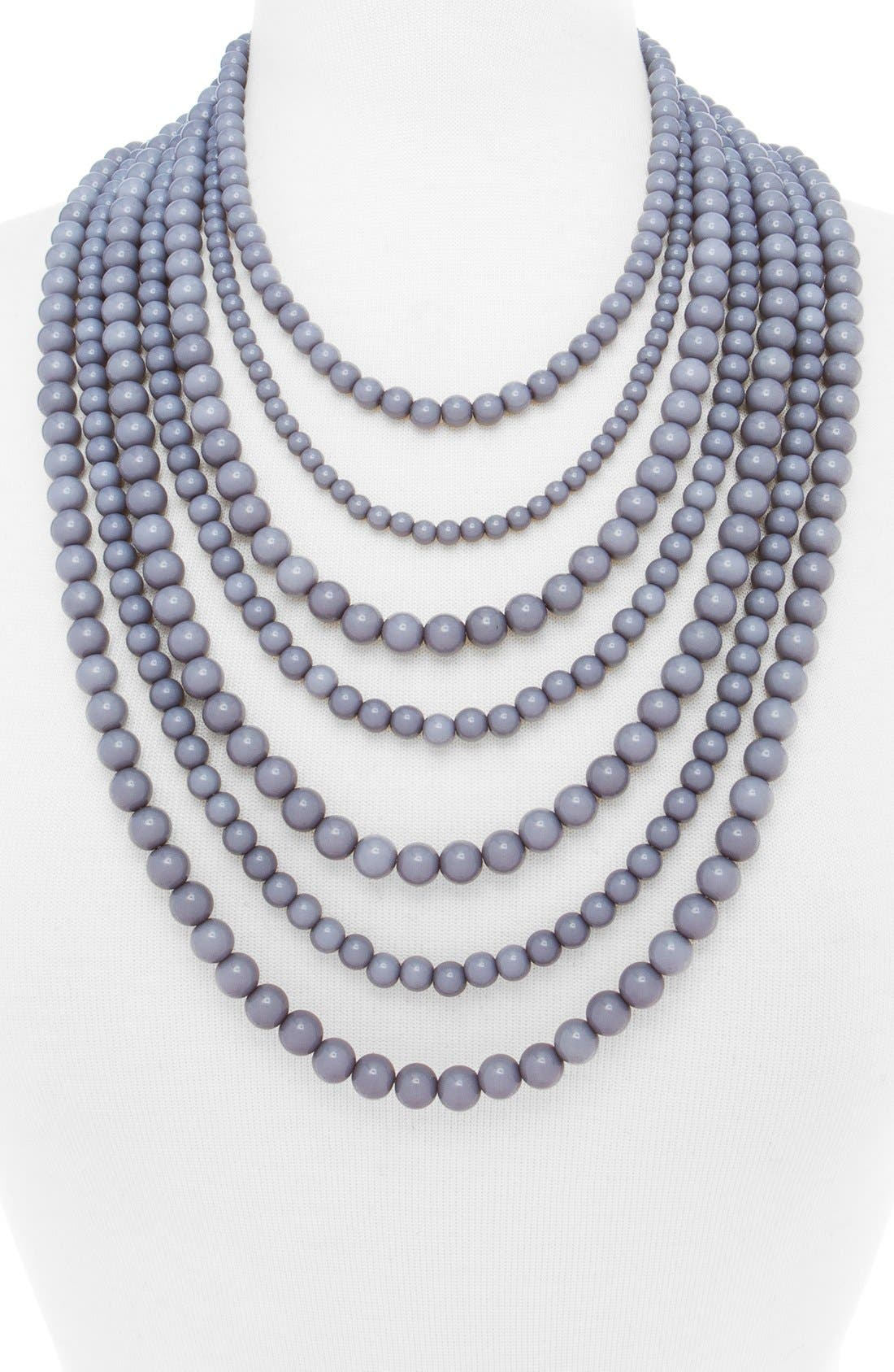 'Bold' Multistrand Beaded Statement Necklace,                             Alternate thumbnail 13, color,