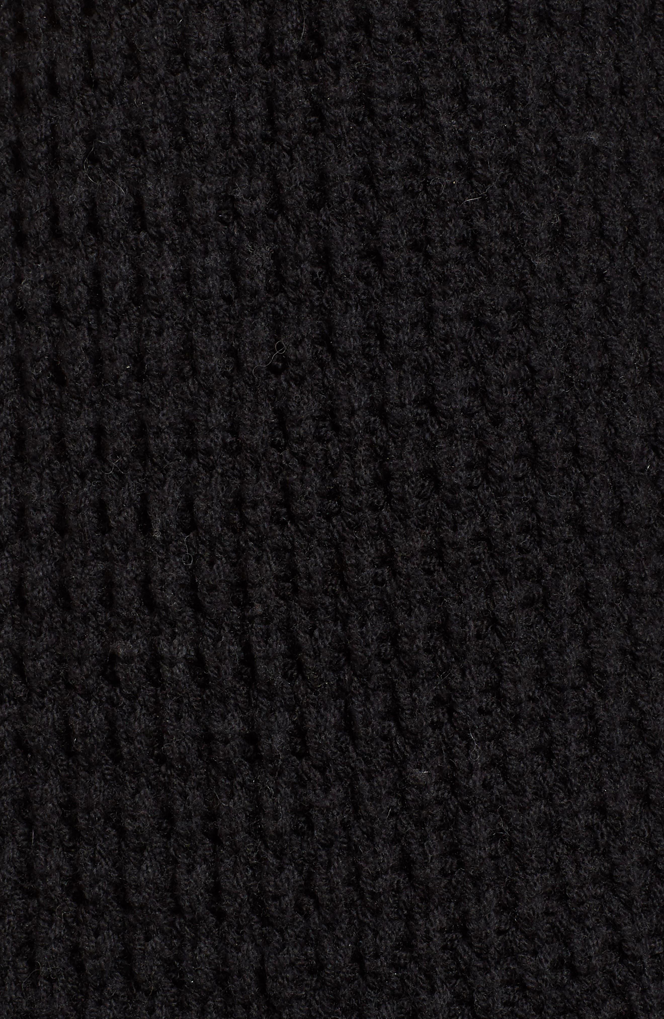 Waffle Stitch Sweater Jacket,                             Alternate thumbnail 5, color,                             001