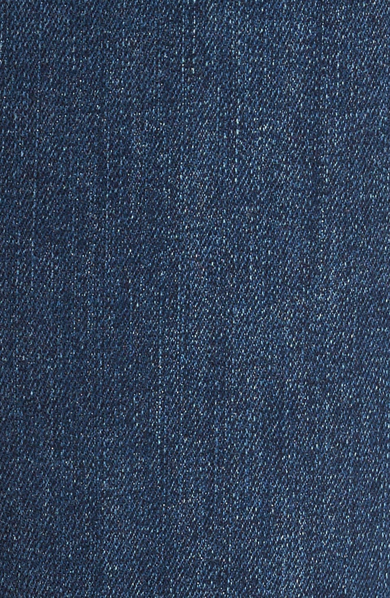 Verdugo Step Hem Ankle Skinny Jeans (Dede Destructed),                             Alternate thumbnail 5, color,                             400