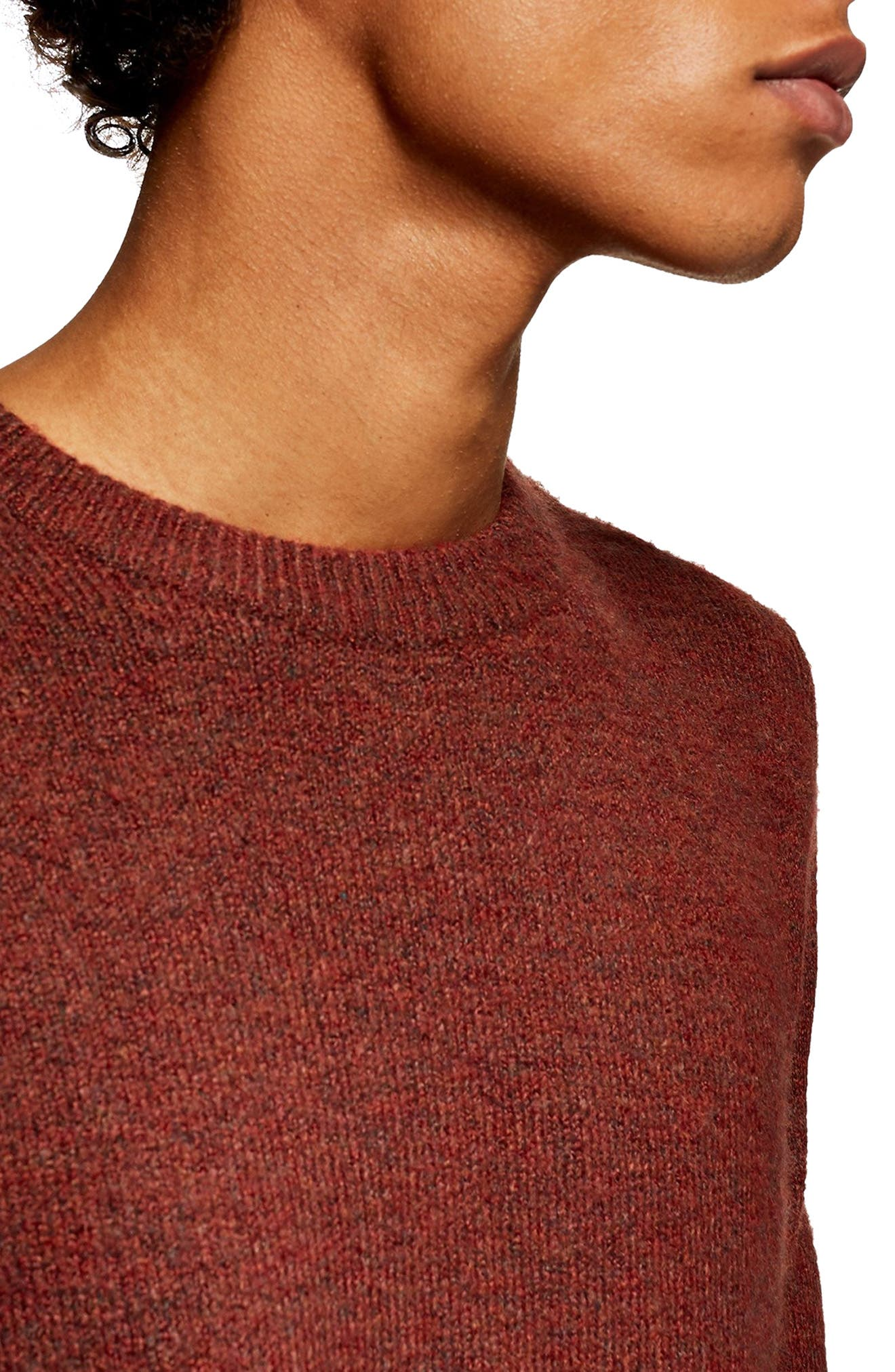 TOPMAN,                             Harlow Classic Fit Sweater,                             Alternate thumbnail 3, color,                             200