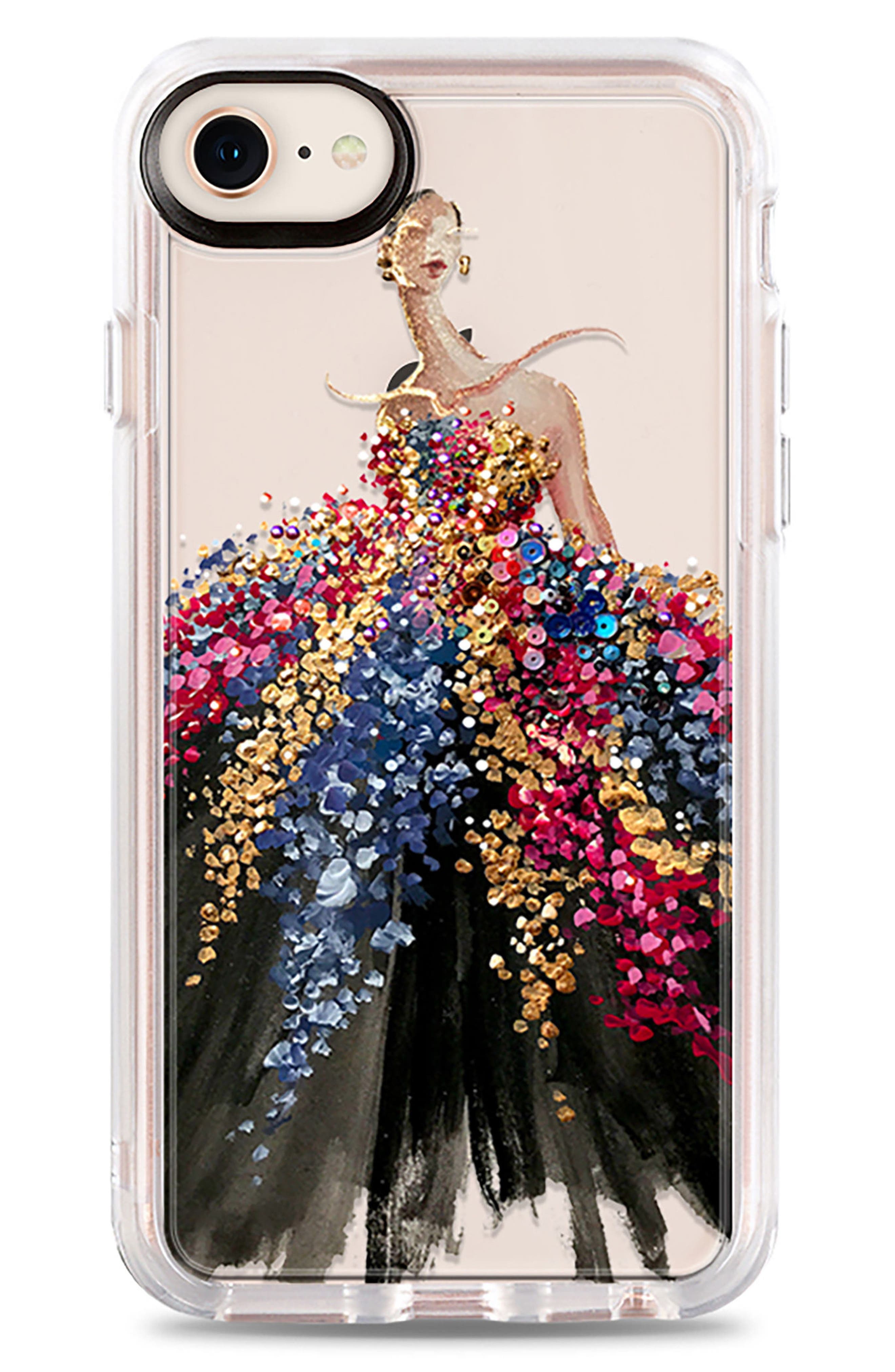 Blooming Gown iPhone 7/8 & 7/8 Plus Case,                             Main thumbnail 1, color,                             MULTI