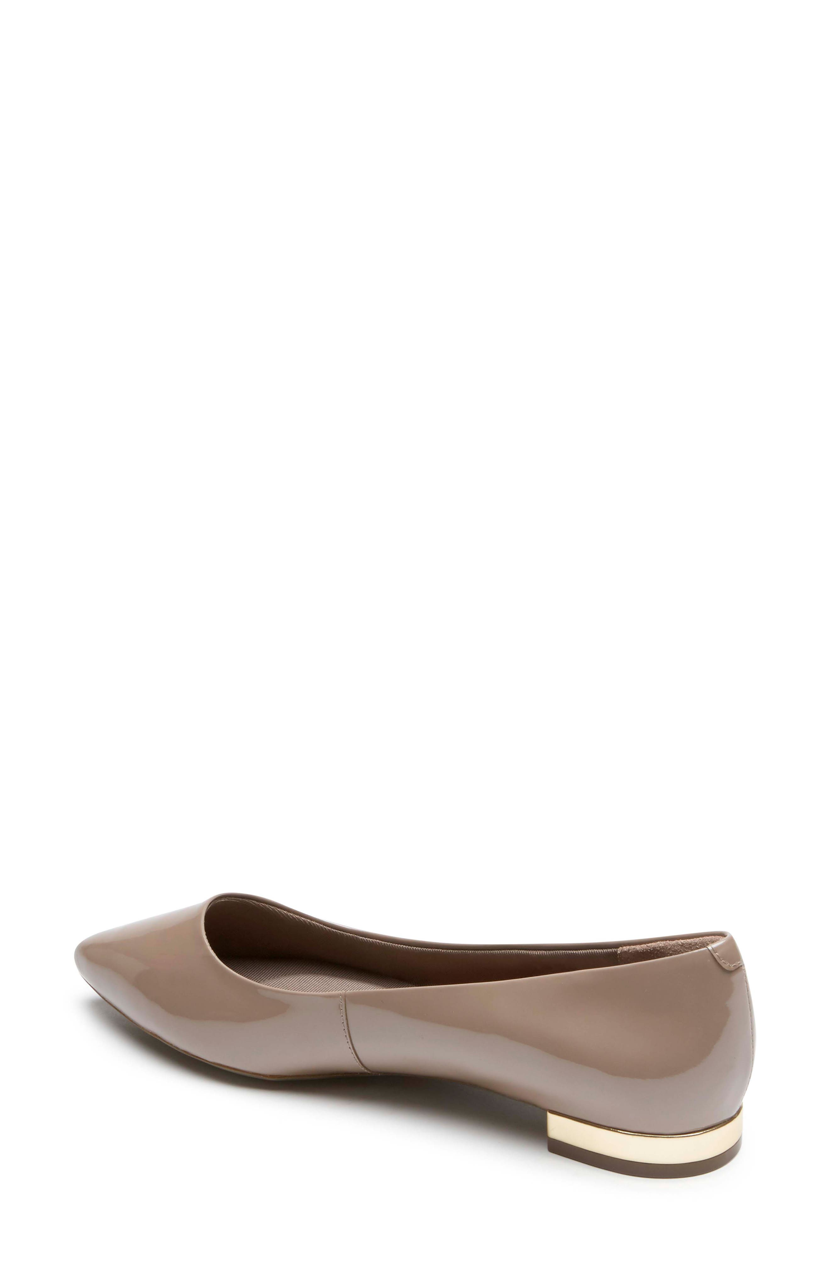 'Total Motion - Adelyn' Ballet Flat,                             Alternate thumbnail 2, color,                             TAUPE GREY PEARL PATENT