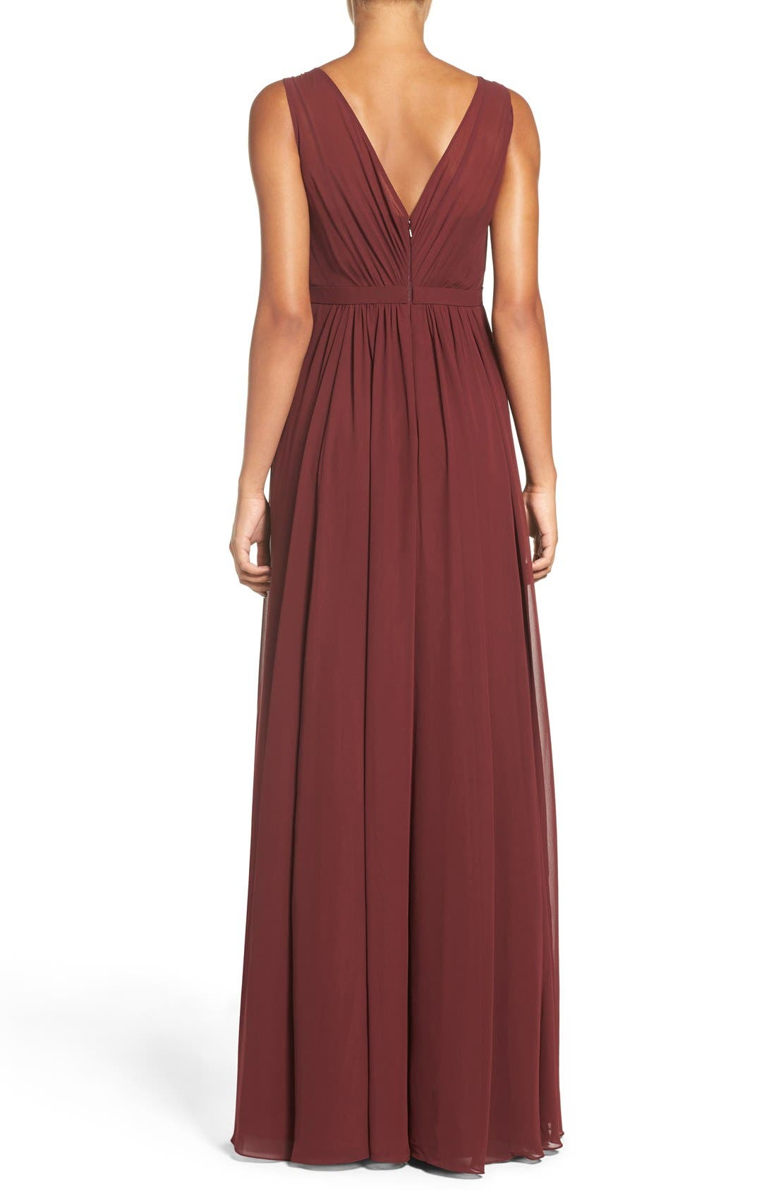 Vivienne Pleated Chiffon Gown,                             Alternate thumbnail 36, color,