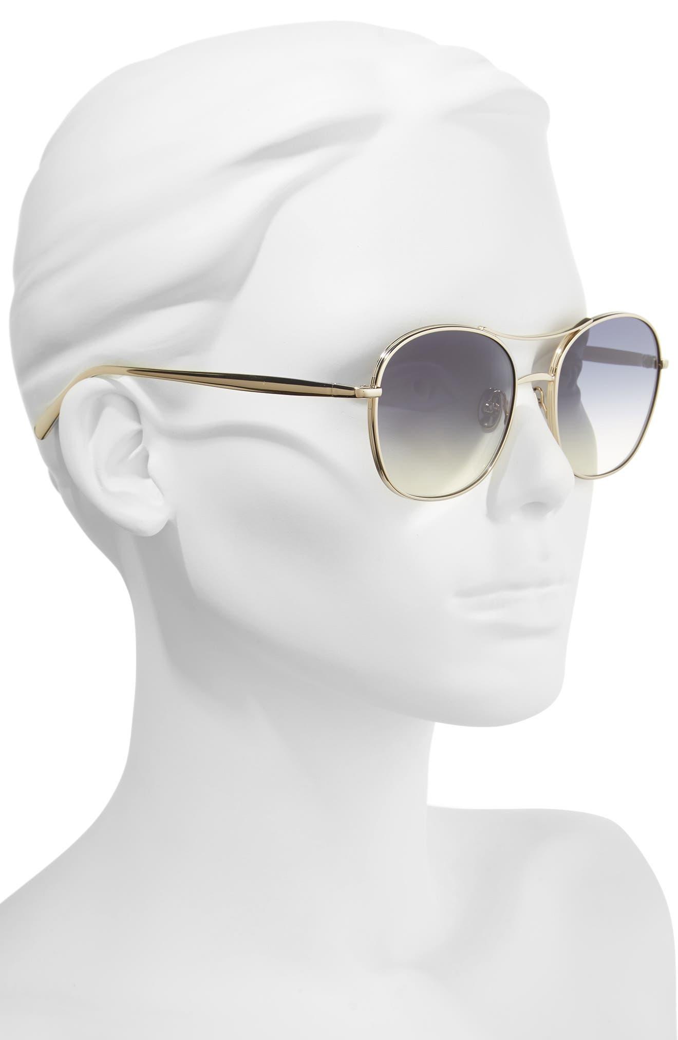 54mm Aviator Sunglasses,                             Alternate thumbnail 2, color,                             710