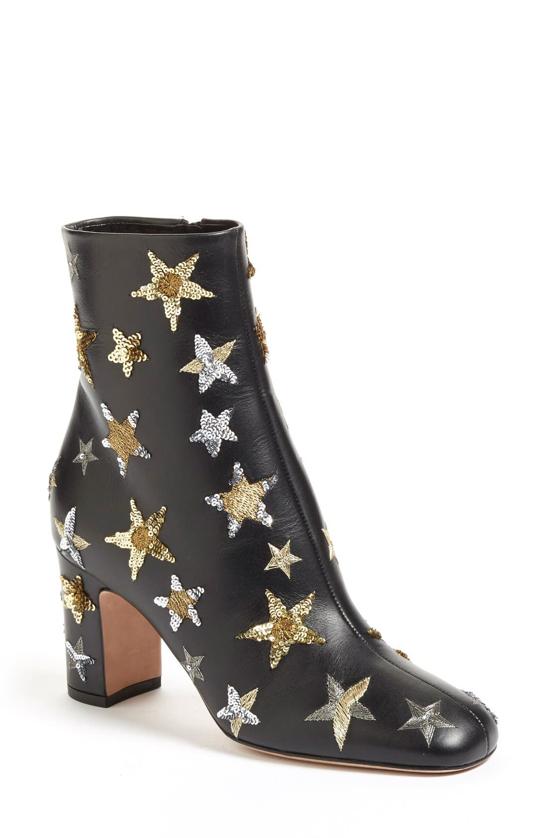 VALENTINO 'Star Studded' Bootie, Main, color, 002