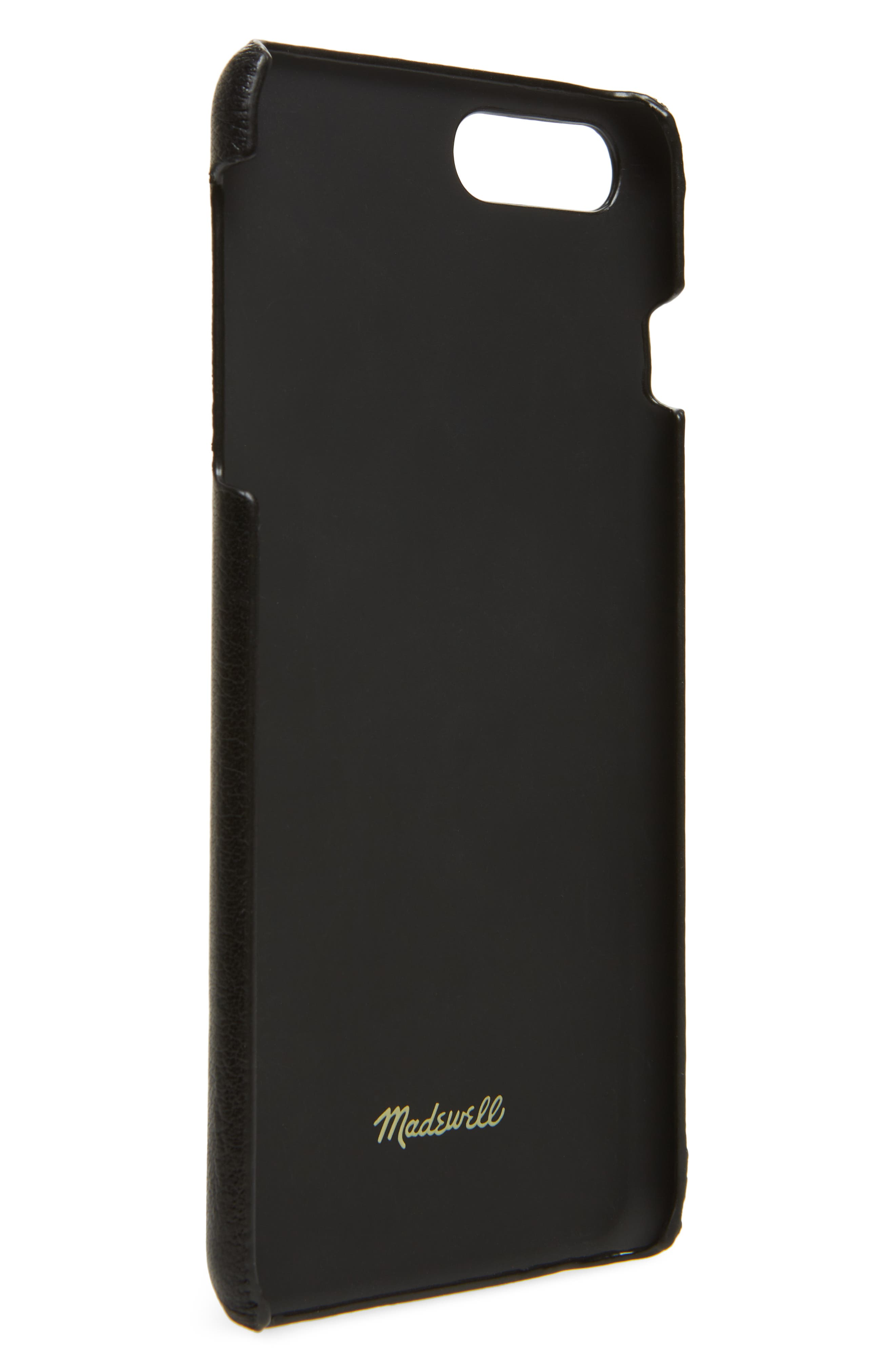 MADEWELL,                             Card Slot Leather iPhone 6/7/8 Plus Case,                             Alternate thumbnail 2, color,                             001