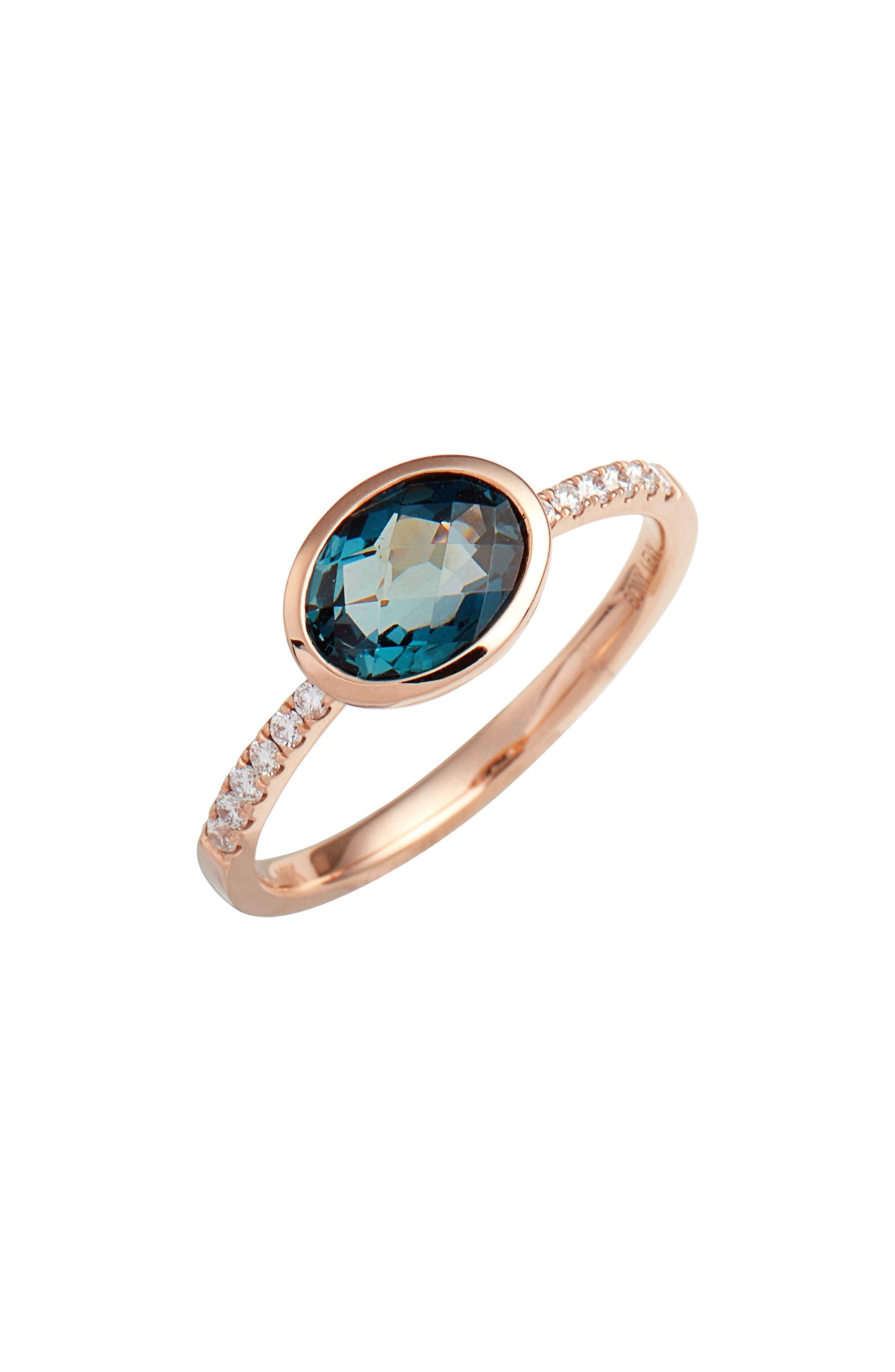 Iris Semiprecious Stone & Diamond Ring,                             Main thumbnail 3, color,