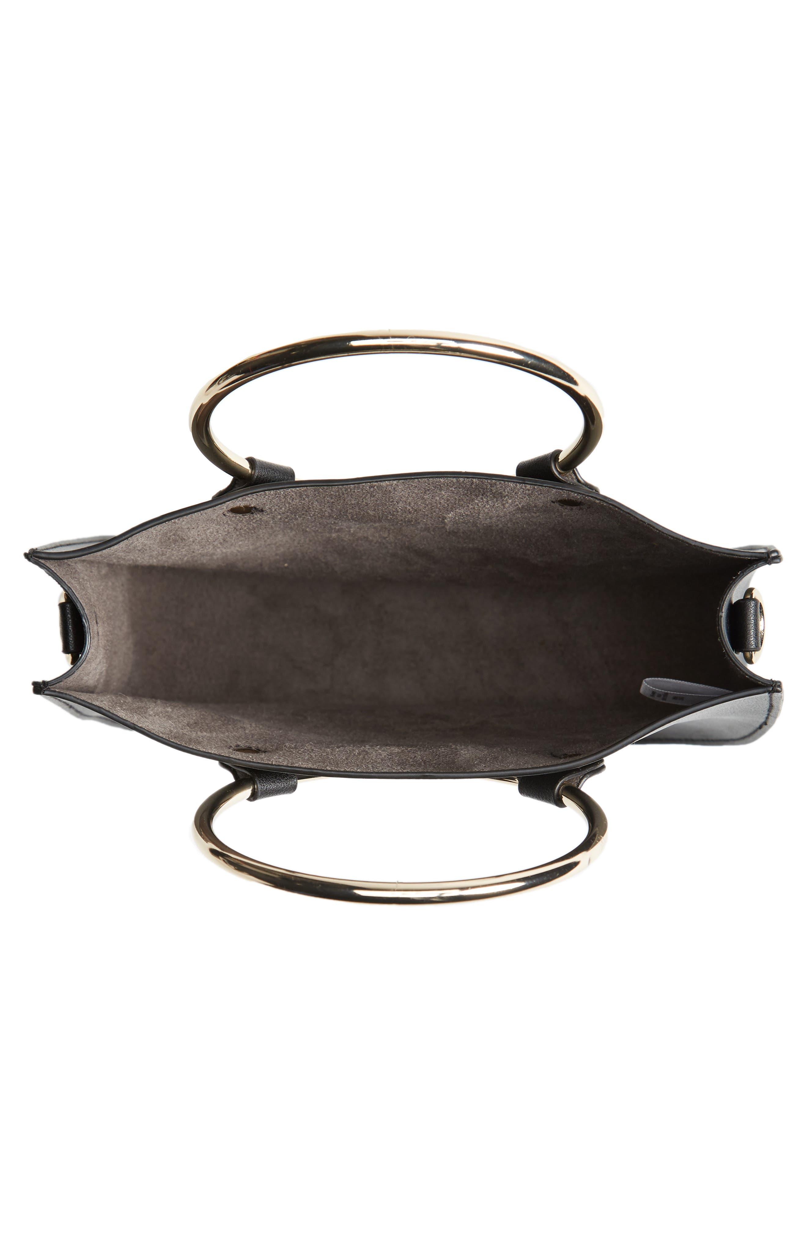 Metal Ring Crossbody Bag,                             Alternate thumbnail 4, color,                             001