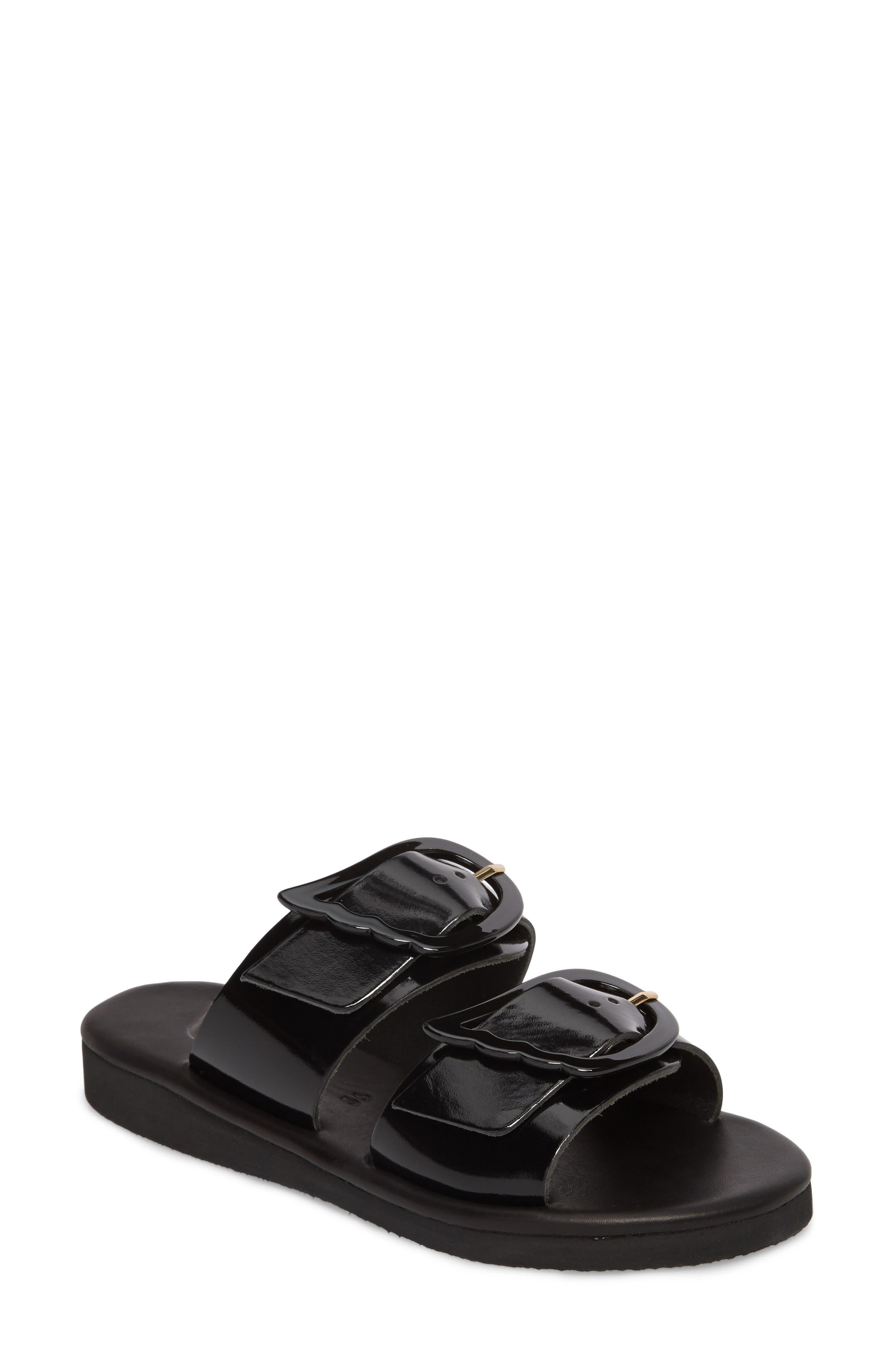 Ancient Greek Sandals Iaso Slide Sandal, Black