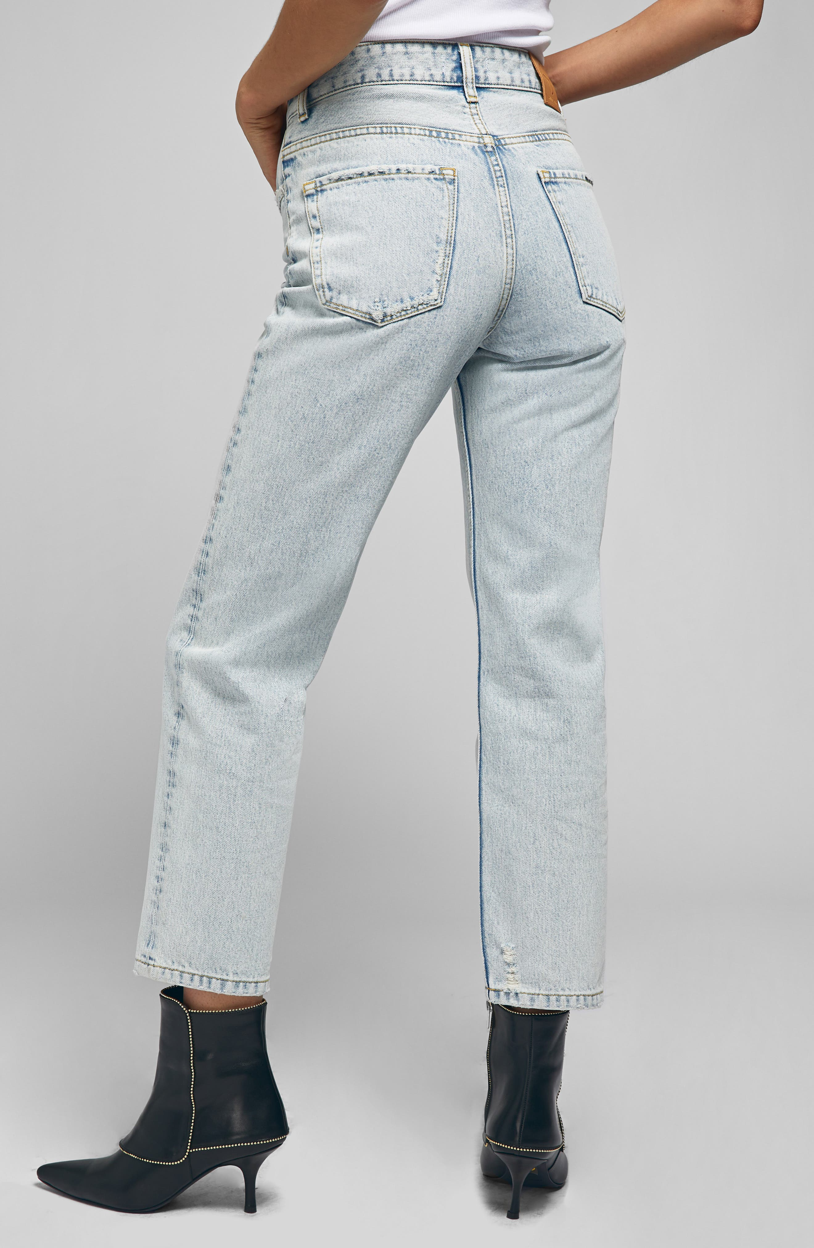 Etta Straight Leg Jeans,                             Alternate thumbnail 2, color,                             LIGHT BLUE
