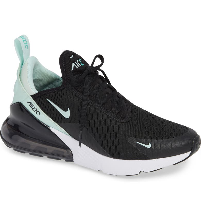 pretty nice 44123 bff8f NIKE Air Max 270 Premium Sneaker, Main, color, BLACK IGLOO TURQUOISE WHITE